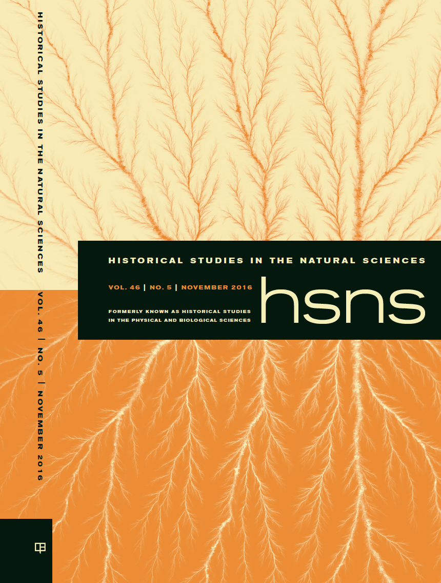 Brit Shields, Historical Studies in the Natural Sciences