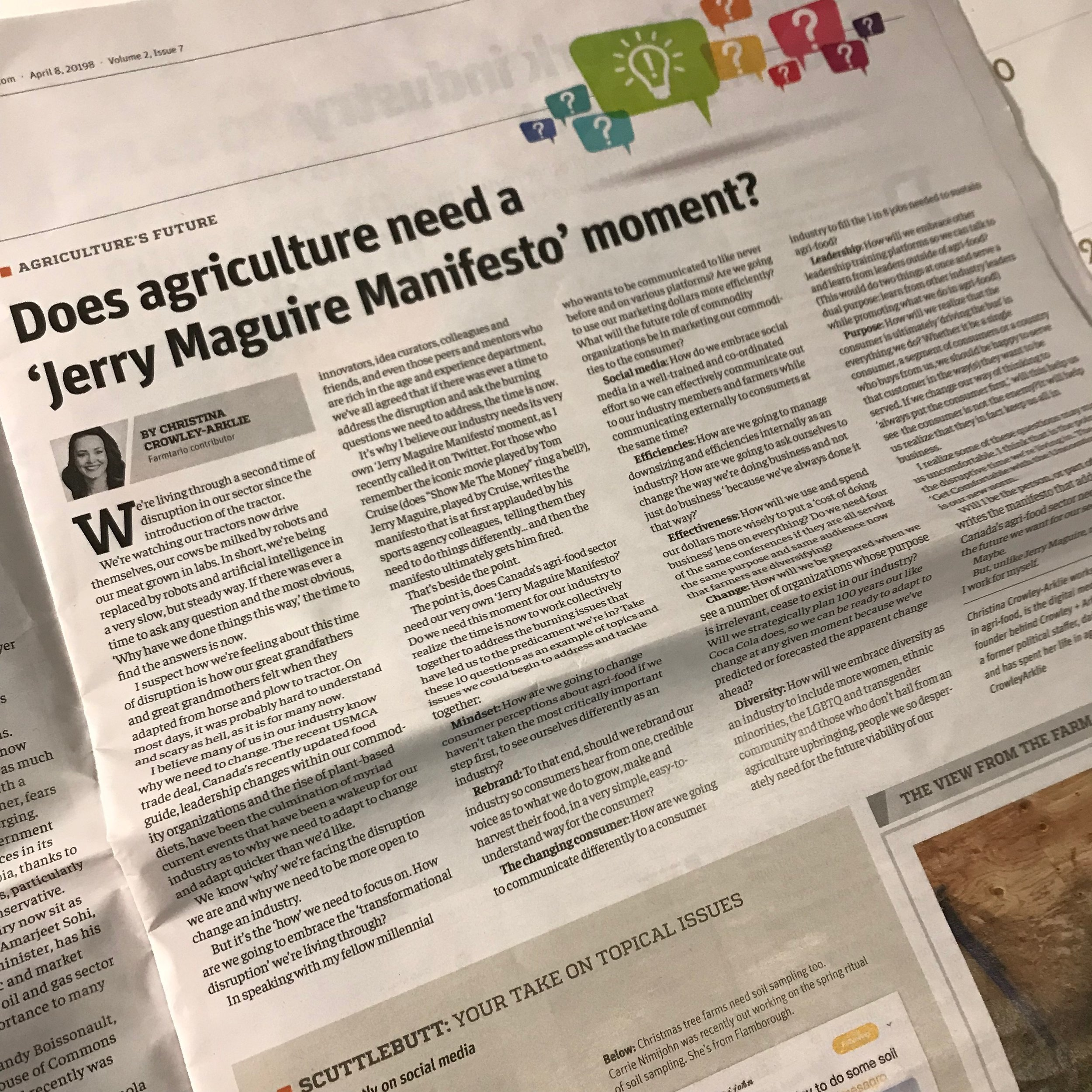 Farmtario article