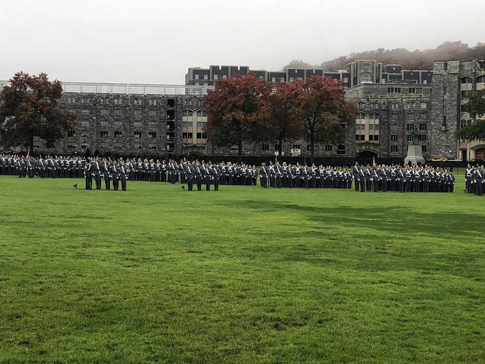 """""""Family"""" photo of the Corps of Cadets taken during the 25th Reunion for the Class of 1993."""