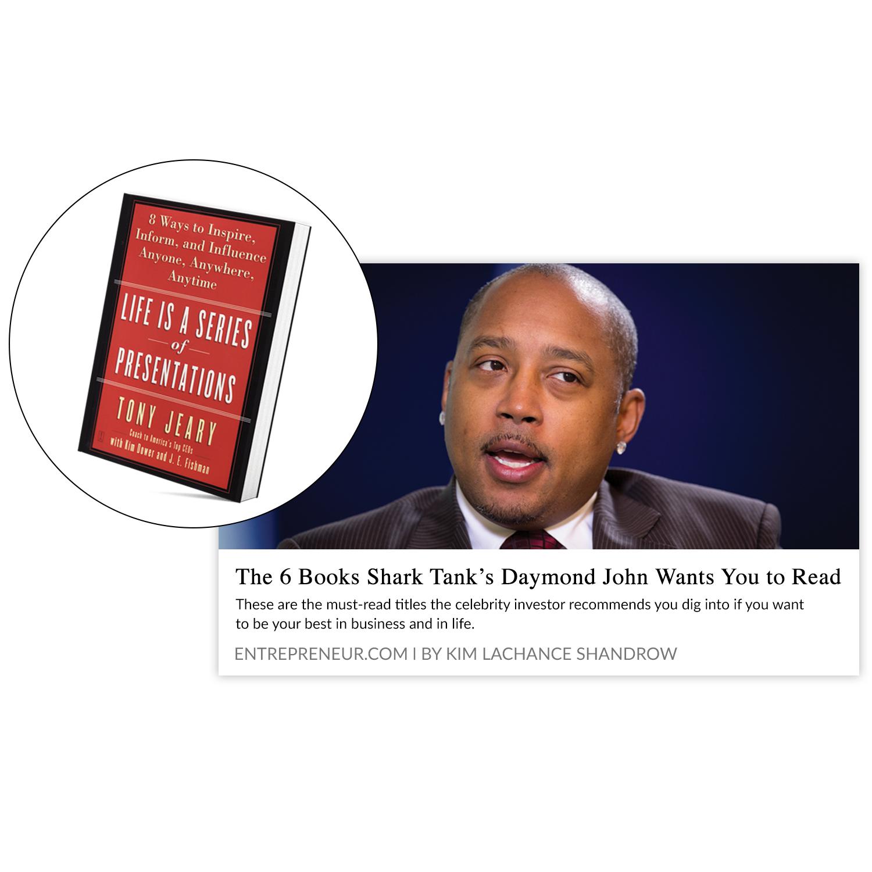 Daymond John Recommends Tony's Books