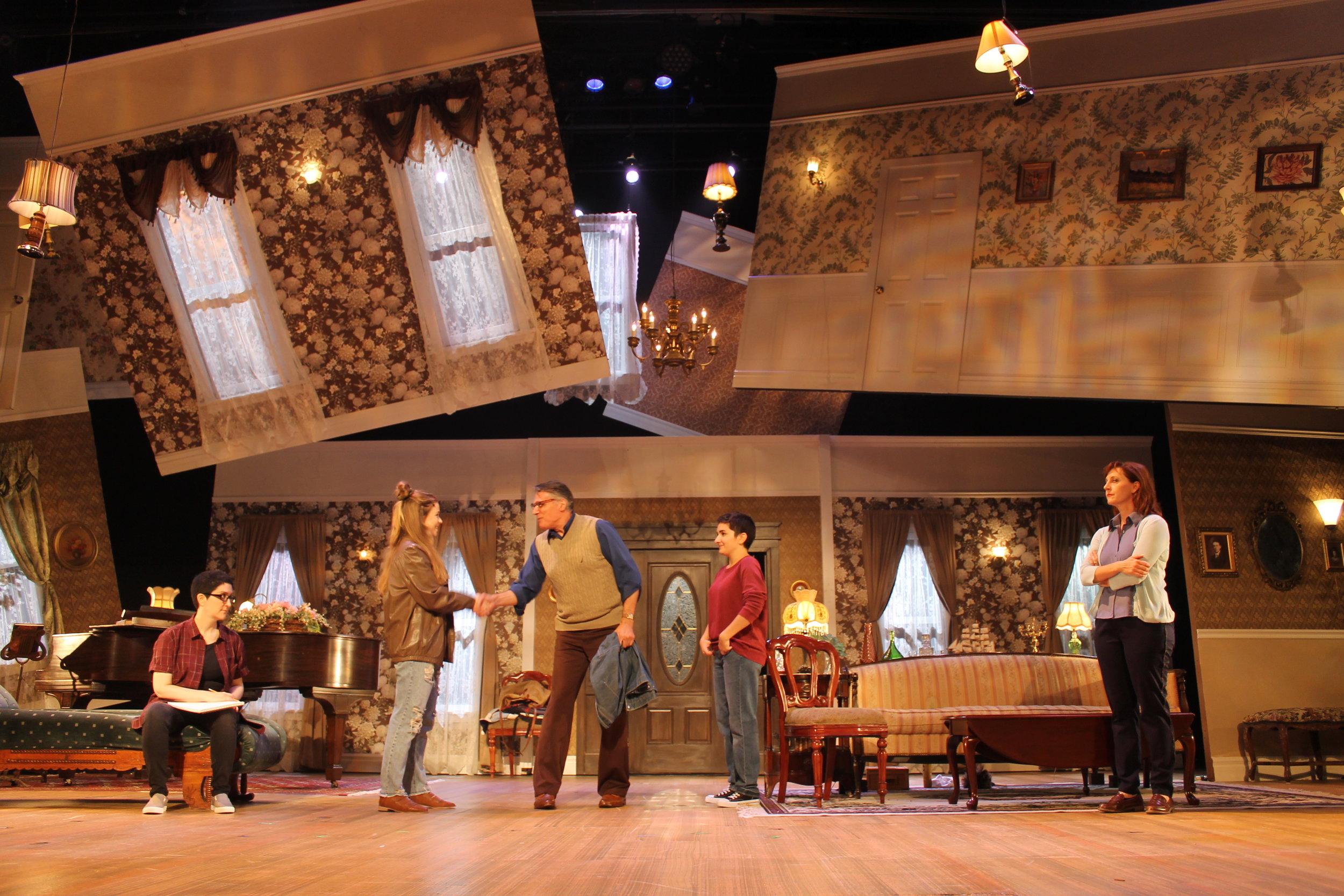 Fun Home,  White Plains Performing Arts Center, 2018. Dir. Amy Griffin, starring Robert Cuccioli, Lauren Cohn and Rita Harvey.