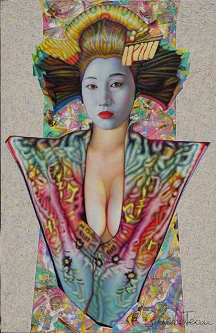 Geisha jaune (100x65)