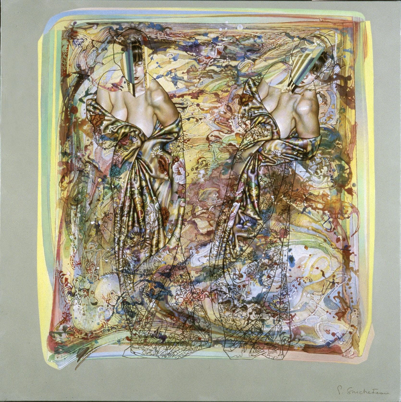 Soeurs d'amble pour des chants inconnus (100x100)