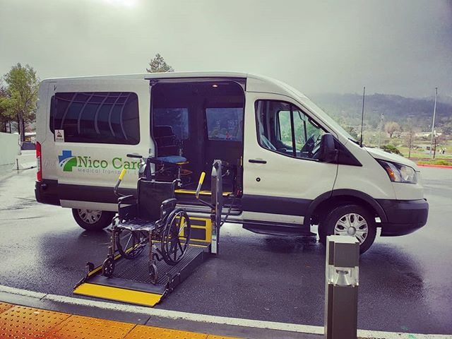 Medical Transport service is available rain or shine! #nonemergencymedicaltransportation #wheelchairtransportation #wheelchair #gurneytransport #medicaltransport