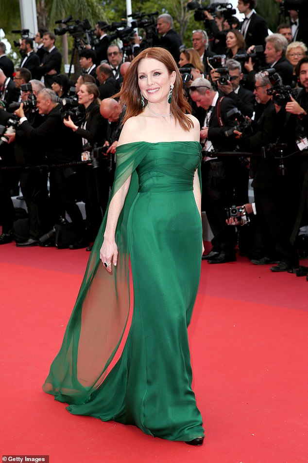 Julianne Moore in Dior; Getty Photo