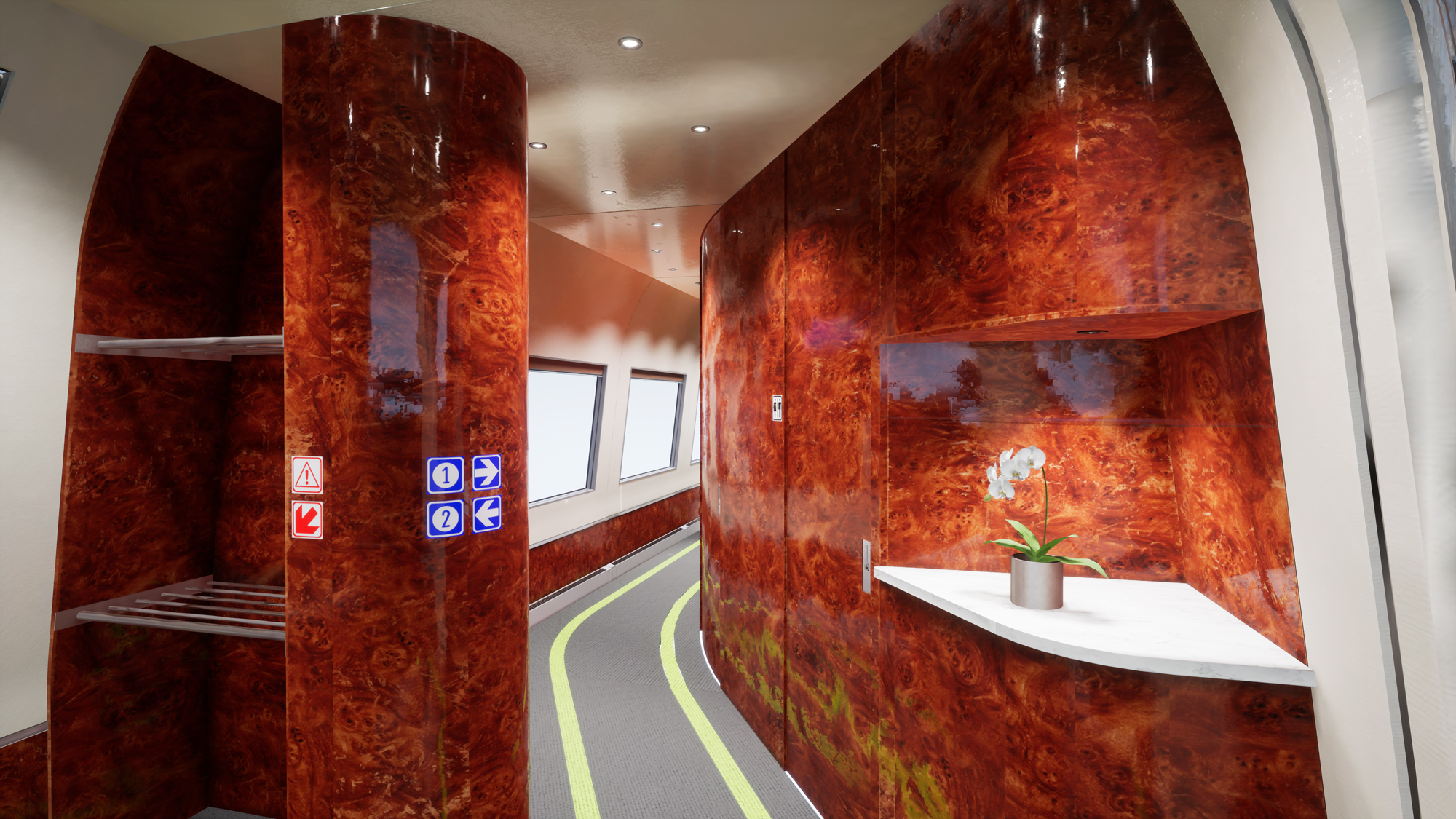Amtrak - New Acela High-Speed Rail Interior