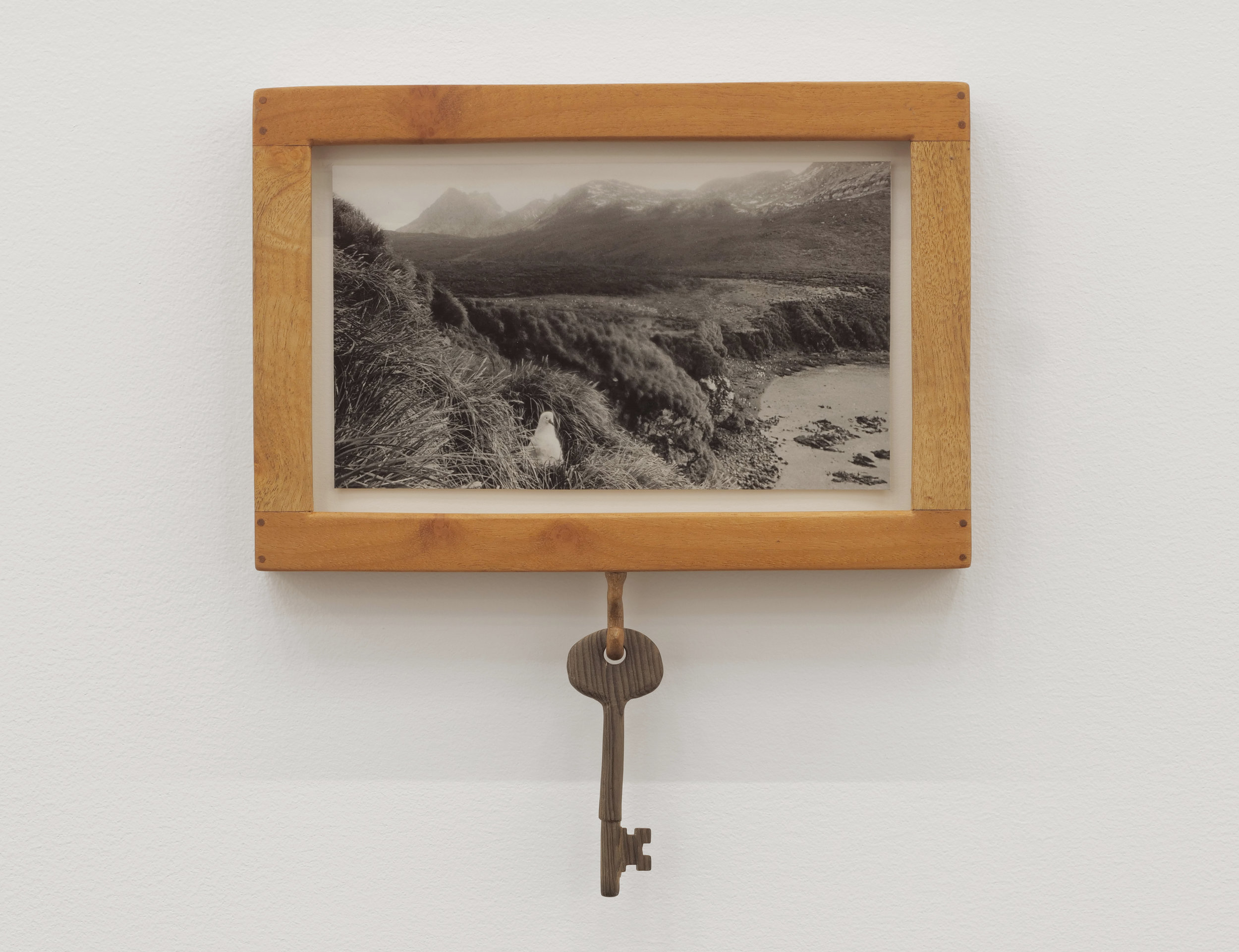 Will Rogan,  Elsahul , 2018, Gelatin silverprint, wood, 9 1/2 x 8 1/2 x 1 in