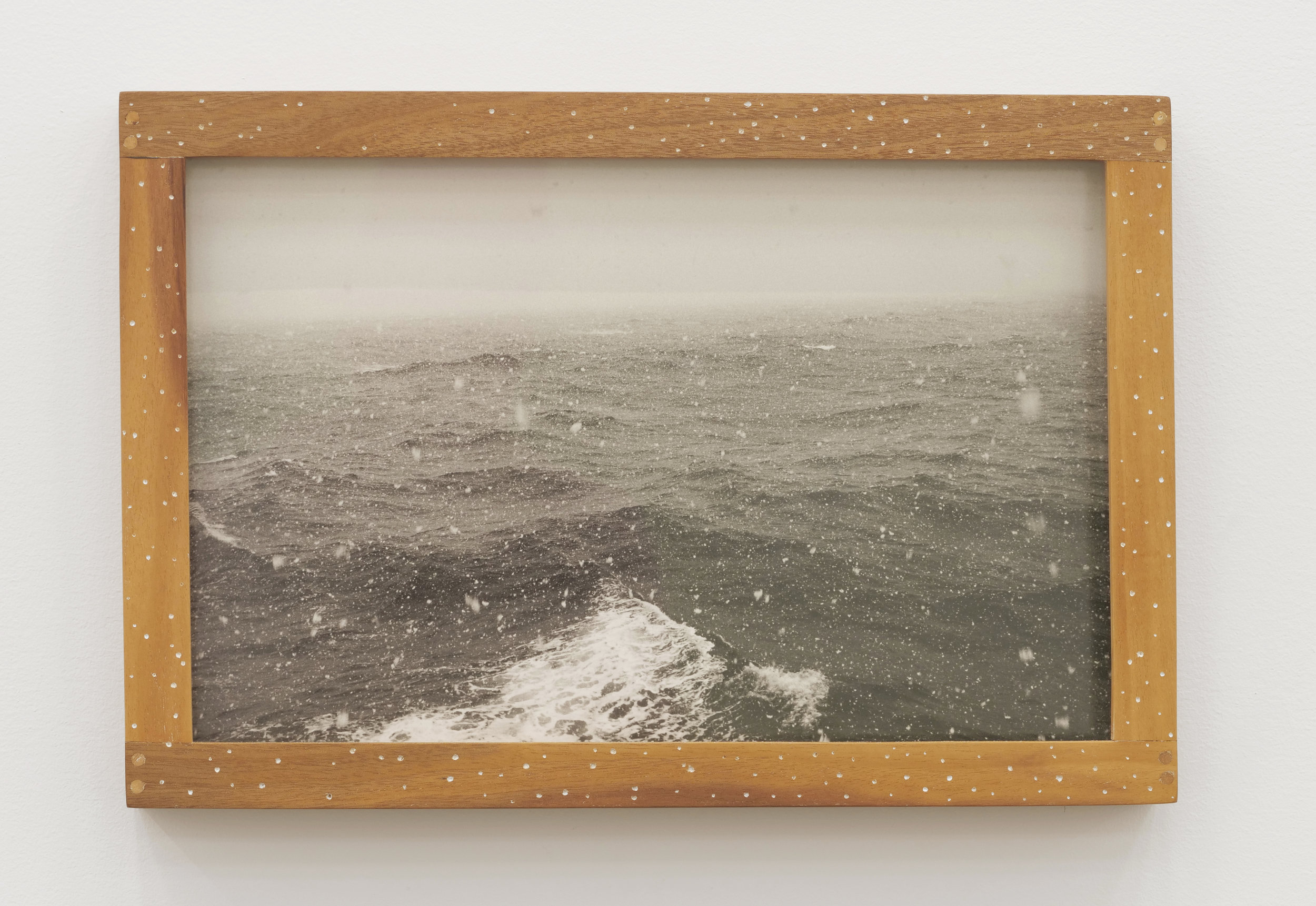 Will Rogan,  Drake Passage , 2018, Gelatin silver print, wood, paint, 9 3/4 x 14 3/8 x 1 1/2 in