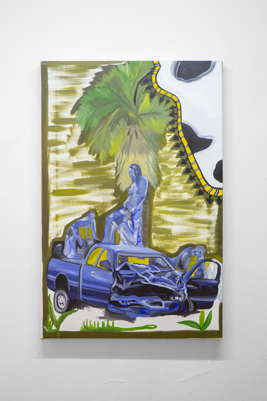 Frieda Toranzo Jaeger, ¿ y la Cheyenne apa'? , 2018. Oil on canvas, 55 x 85 cm; 21.65 x 33.46 inches.