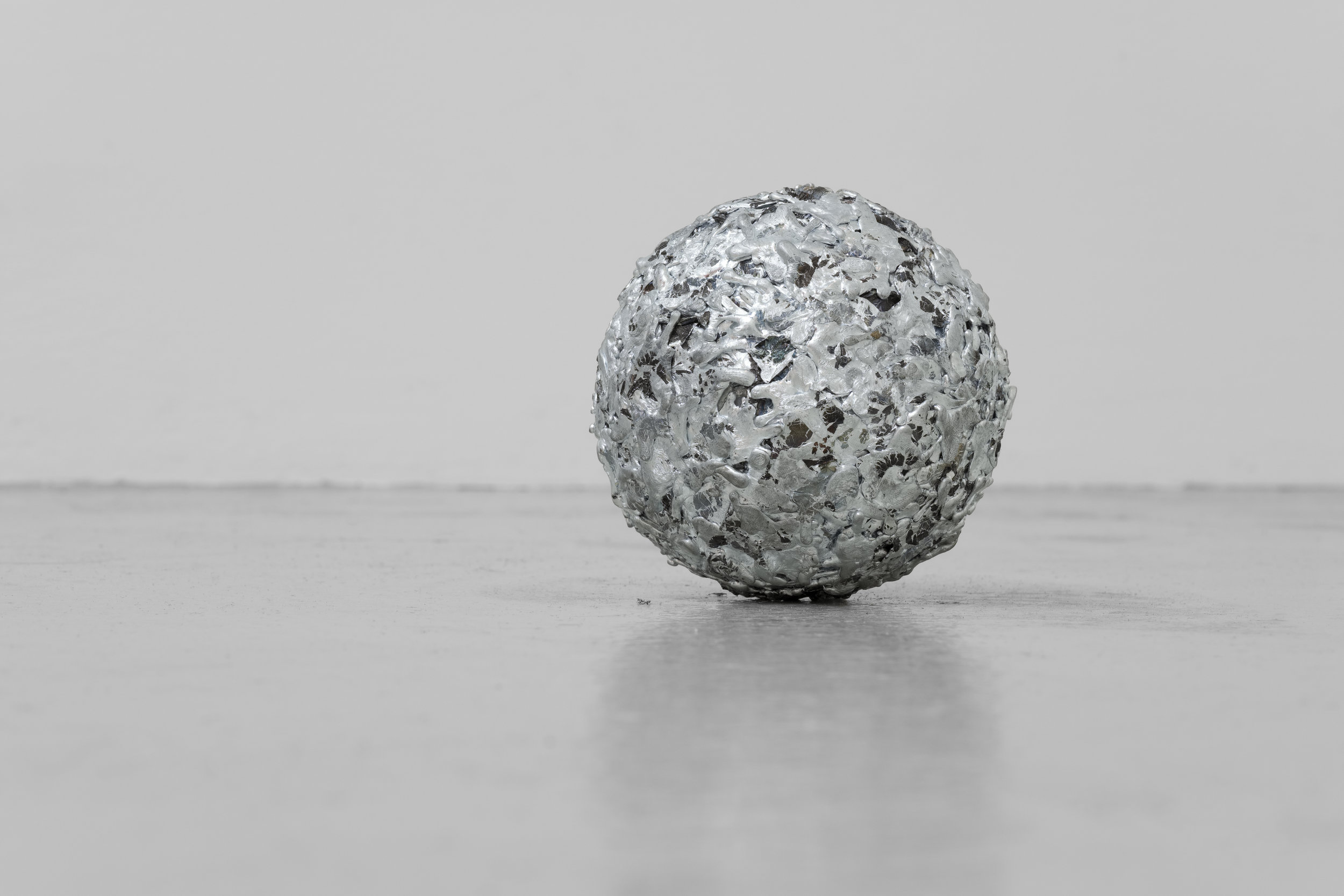 Matt Browning,  Untitled,  2018, Zinc, copper, 4 x 4 inches (10.16 x 10.16 cm)