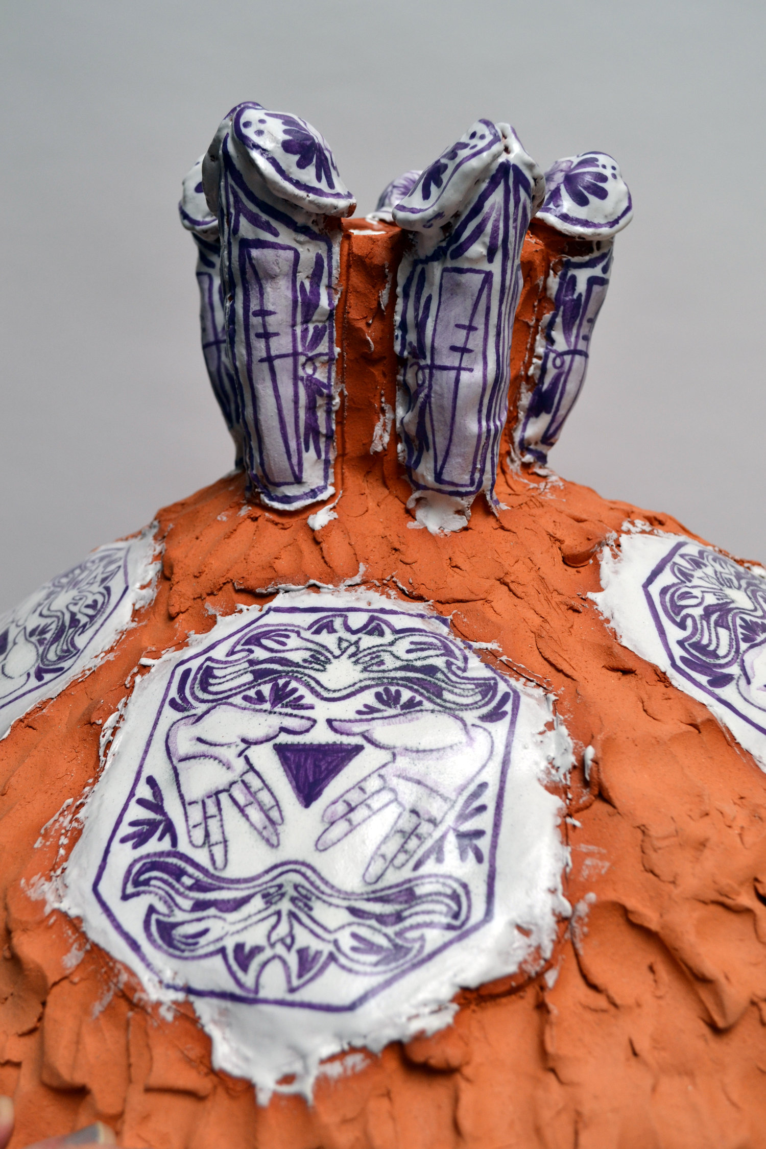 """Nicki Green,  Crock for Dinah and The River,  2016, Glazed earthenware. 42"""" x 26"""" x 26"""""""