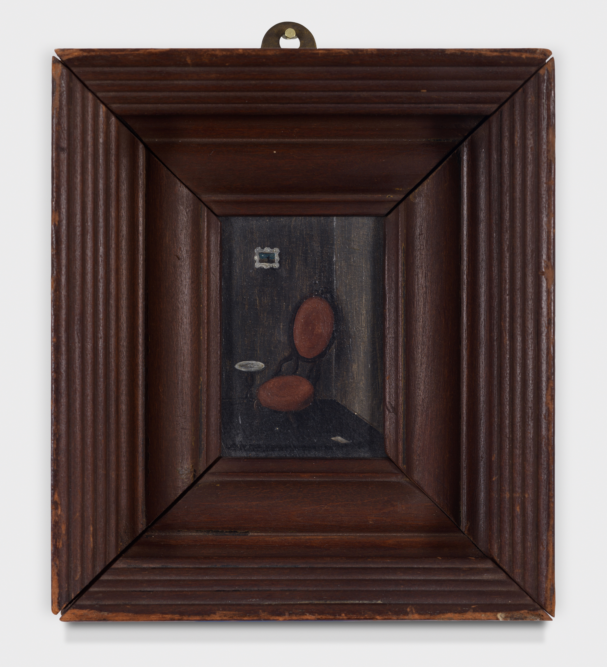 Victorian Chair,  c. 1945, Oil on board, 3 1/4 × 2 3/8 inches (unframed); 7 × 6 inches (framed). From the collection of the late Emma N. Loeb.