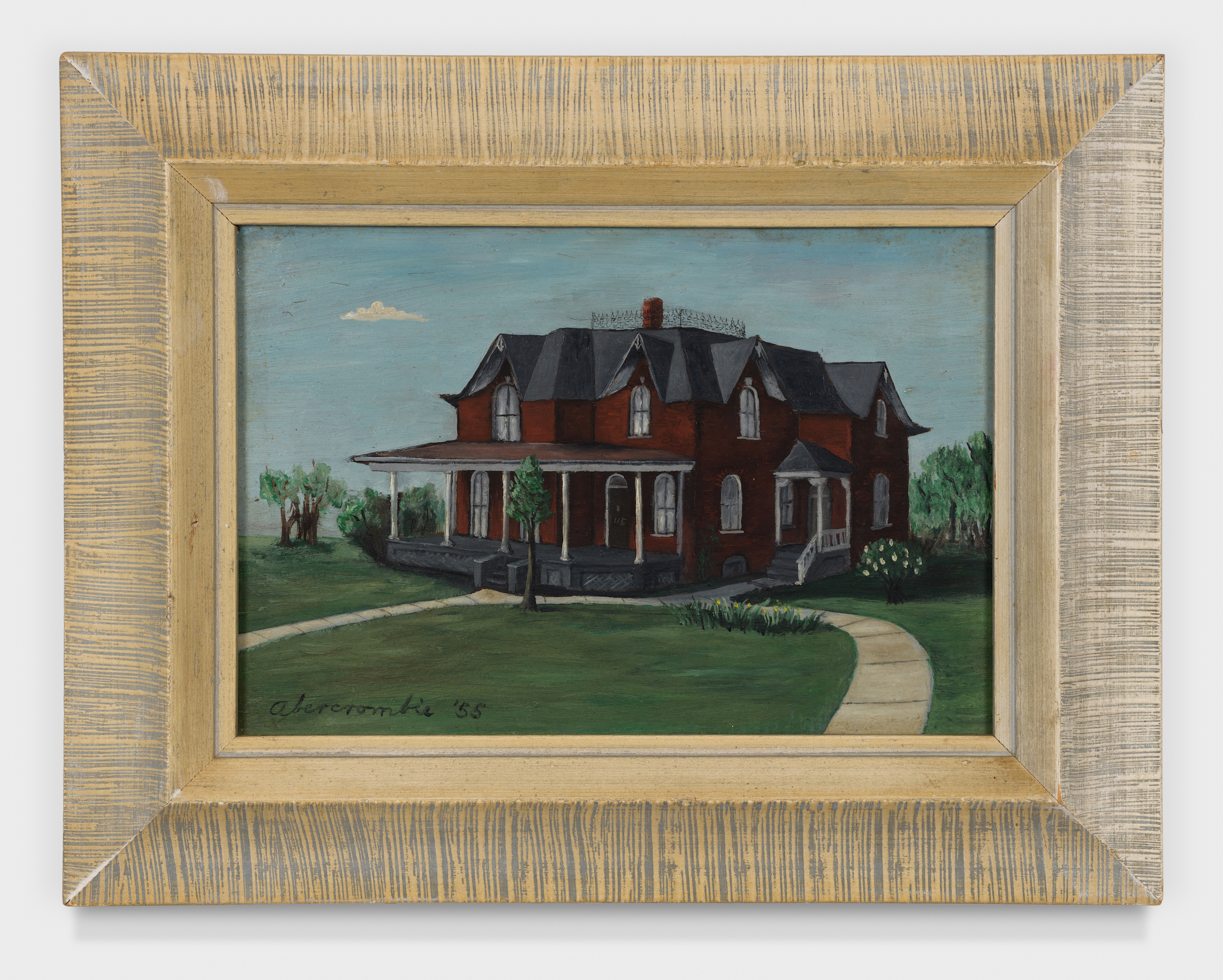 House of Seven Gables , 1955, Oil on board, 5 × 7 inches (unframed); 8 × 10 inches (framed). Carlberg Collection.