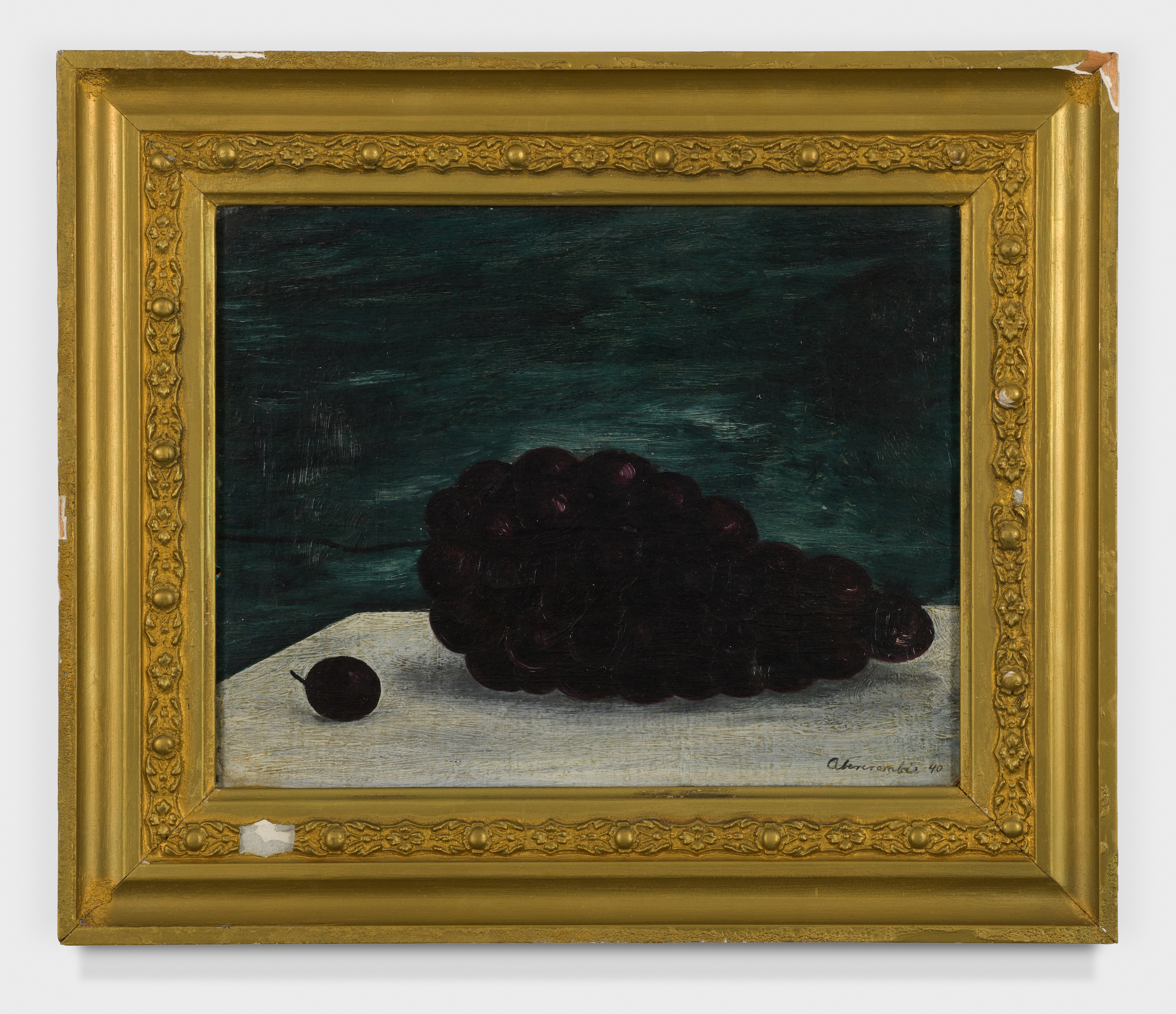 Grapes , 1940, Oil on panel, 8 1/4 × 10 inches (unframed); 11 1/2 × 13 1/2 inches (framed). From the collection of the late Emma N. Loeb.