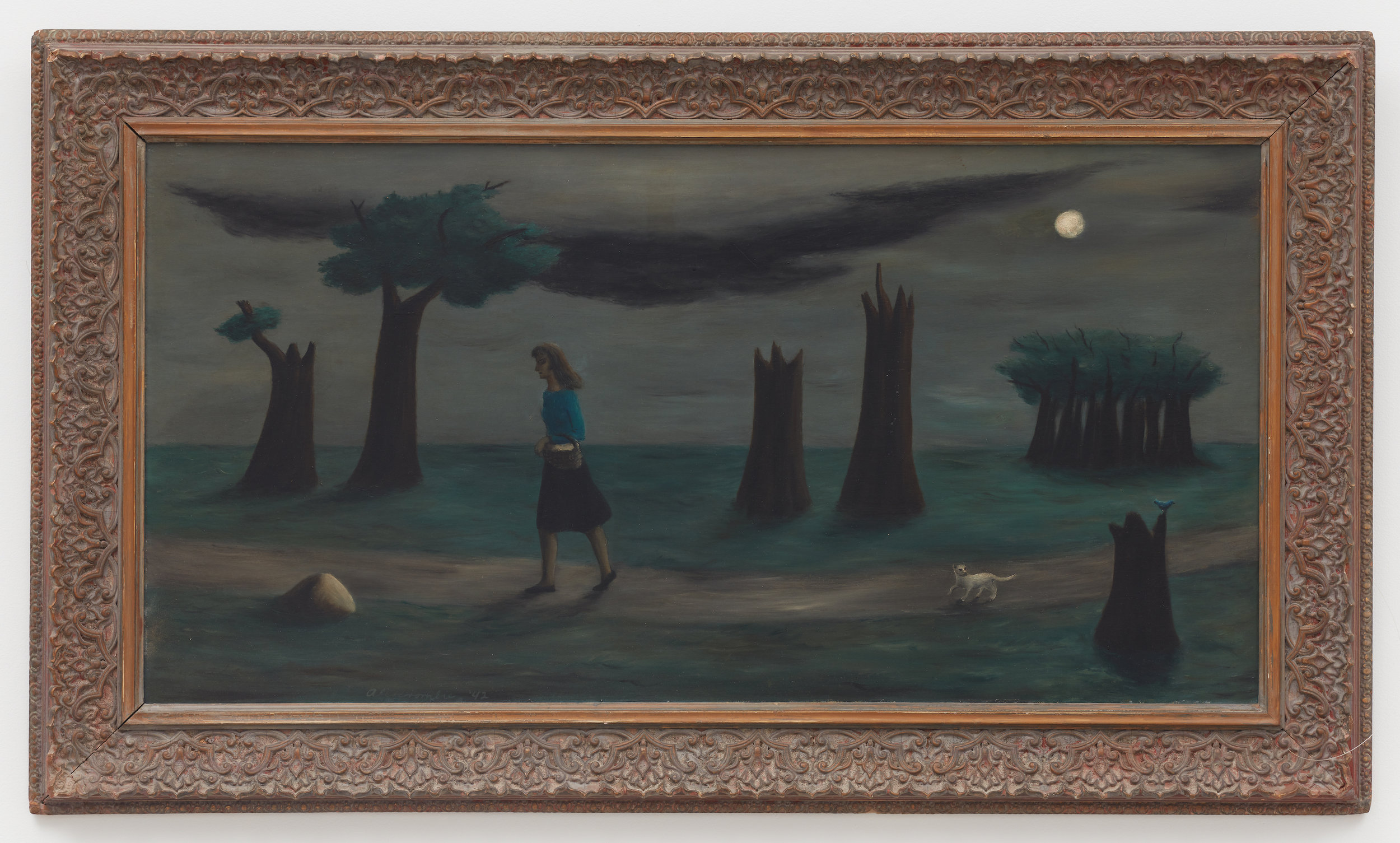 Solitude , 1942, Oil on canvas, 20 1/2 × 40 3/4 inches (unframed); 28 1/2 × 48 inches (framed). Collection of Laura and Gary Maurer.