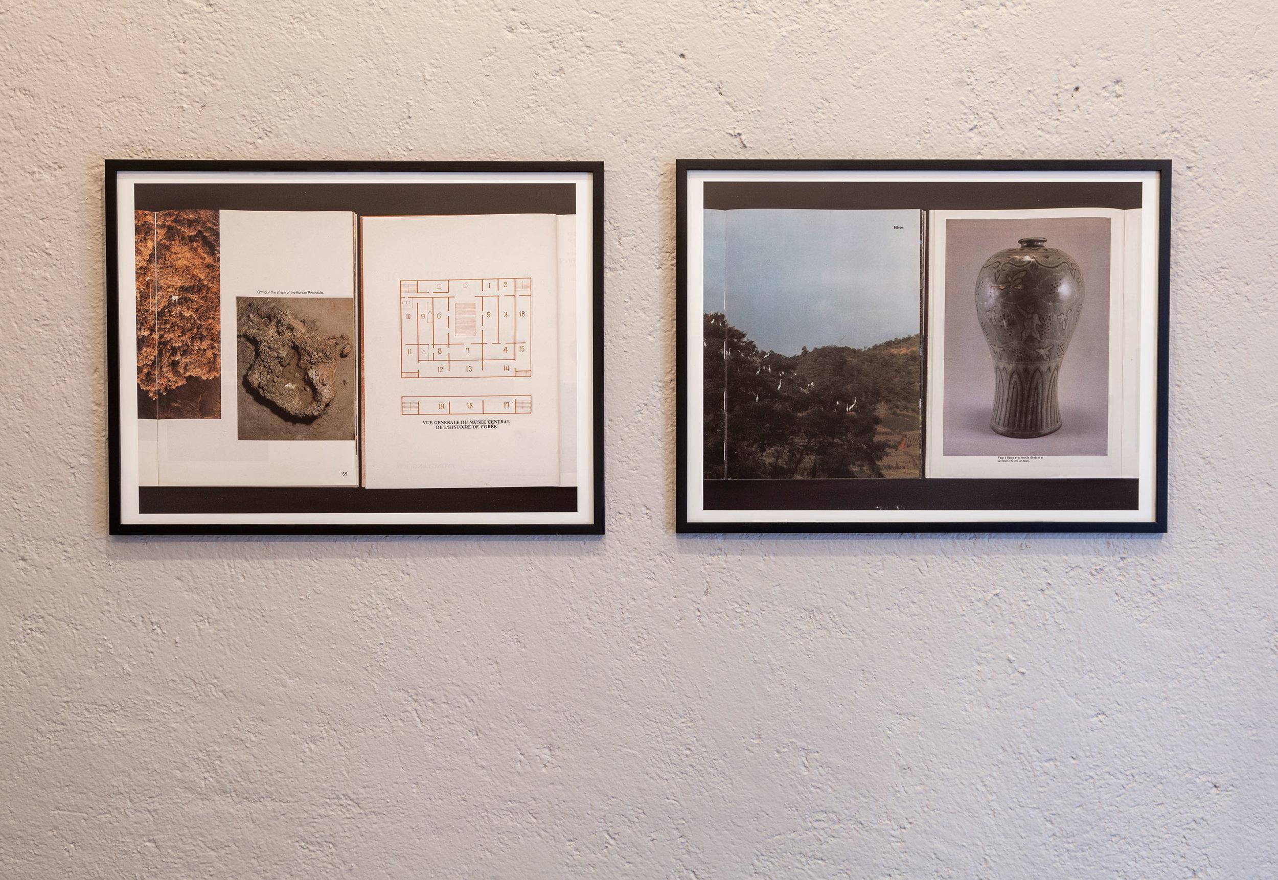 Marie Voignier (París, 1974),.  Les Affections (L'Histoire) , 2014,  Les Affections (Le Dessin),  2014, Baryta print, 48.8 x 65 cm each
