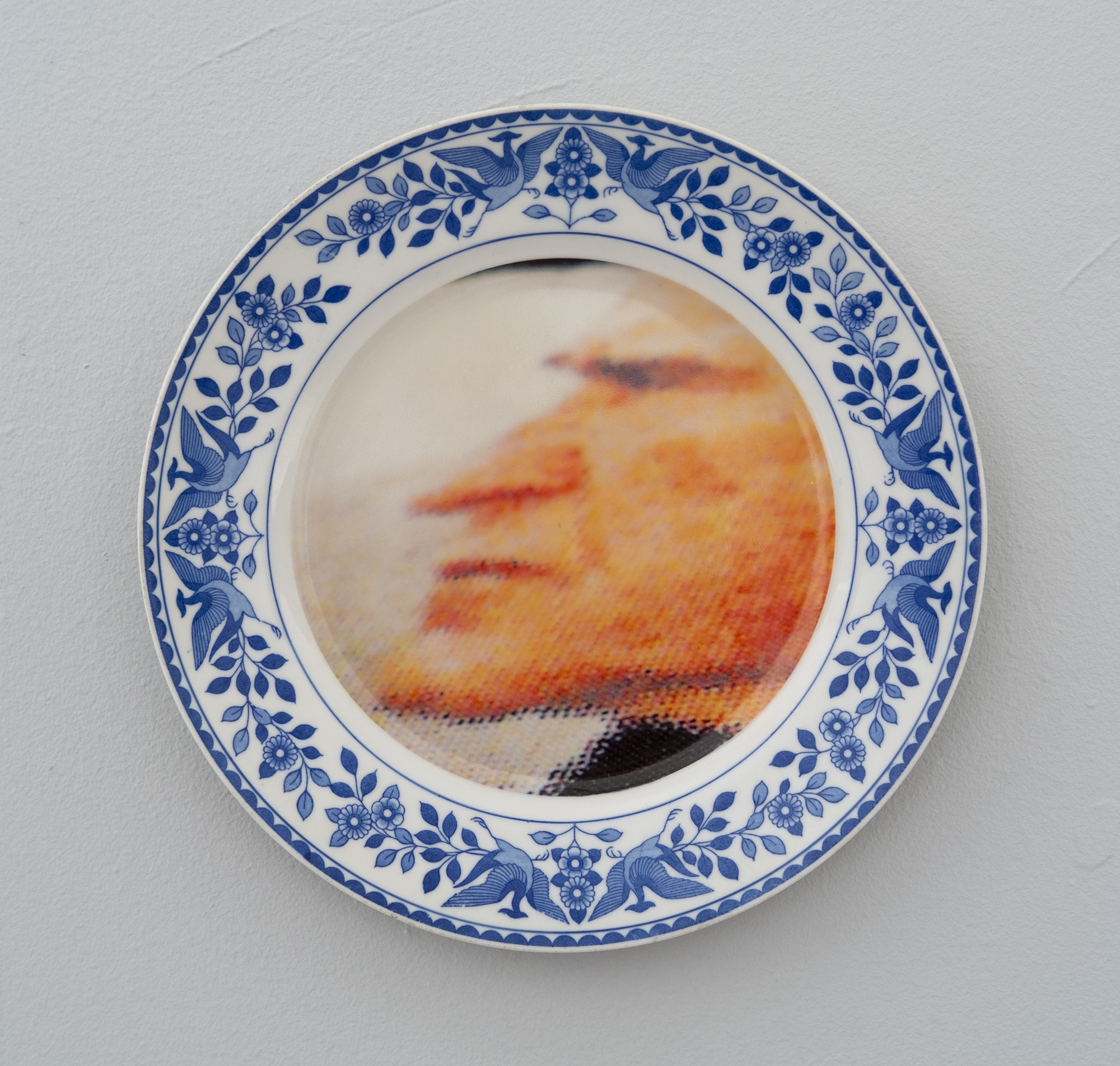 Bean Gilsdorf,  George H. W. Bush , 2018, Ceramic plate, 9.75 inch diameter