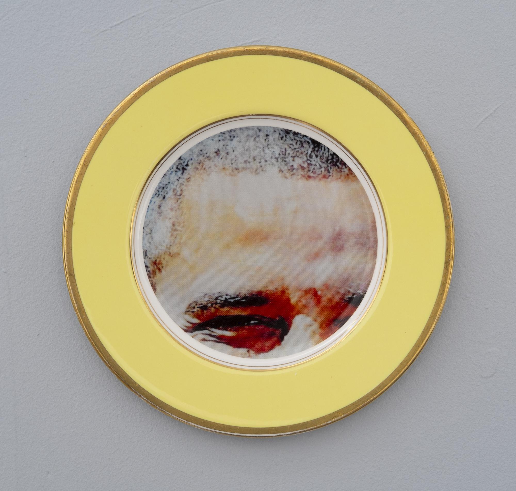 Bean Gilsdorf,  Barack Obama,  2018, Ceramic plate, 10.5 inch diameter