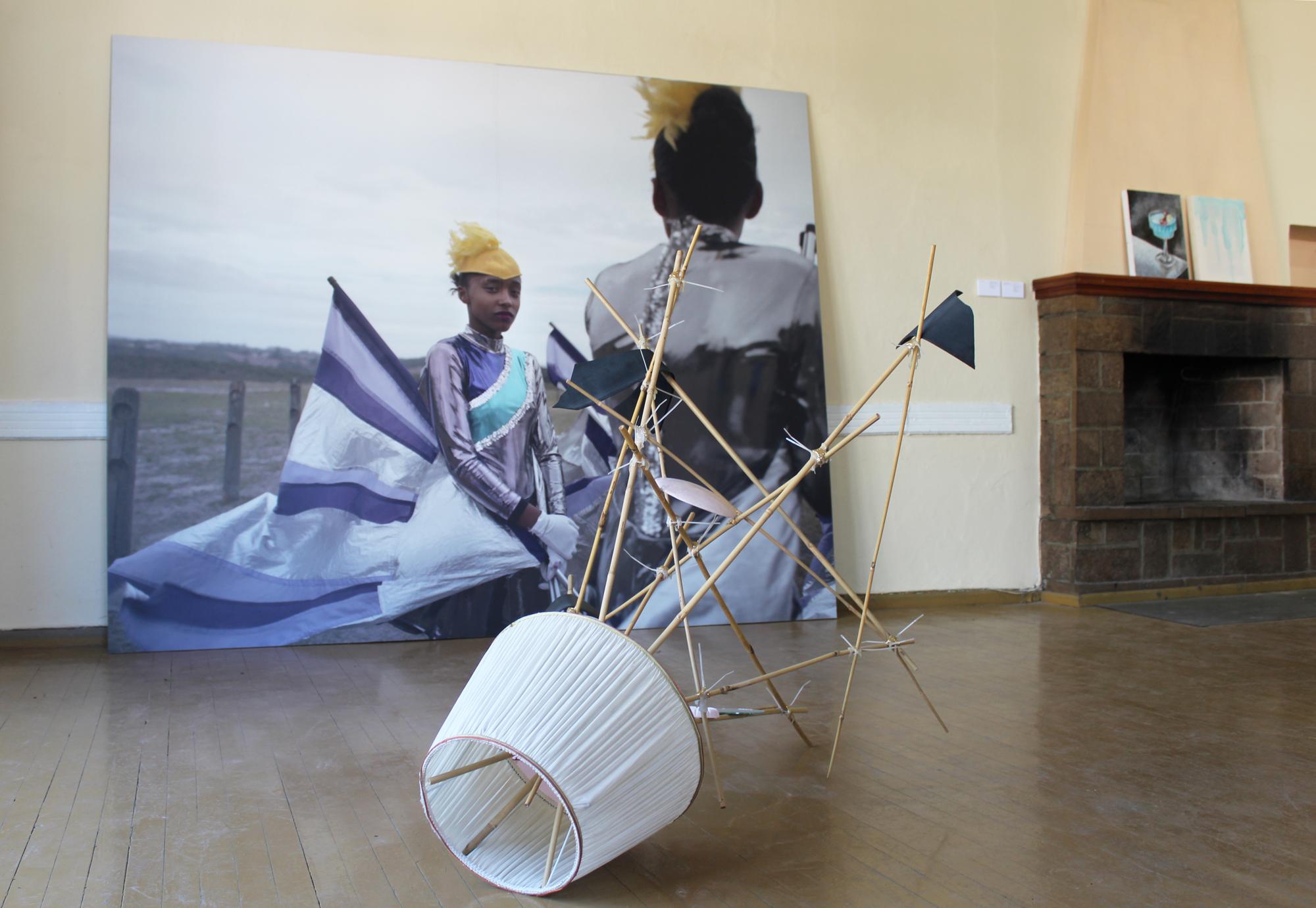 2_Installation View, How to Fall with Grace, Alice Mann, Nana Sachini, Jacopo Miliani and Antonietta F. Miliani.jpg