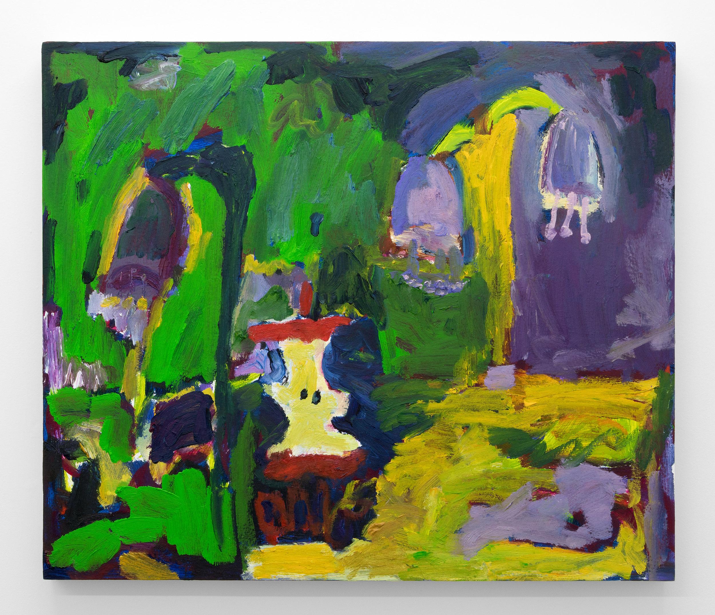 Adrianne Rubenstein,  The Forest Floor , 2018, Oil on panel, 22 x 26 in