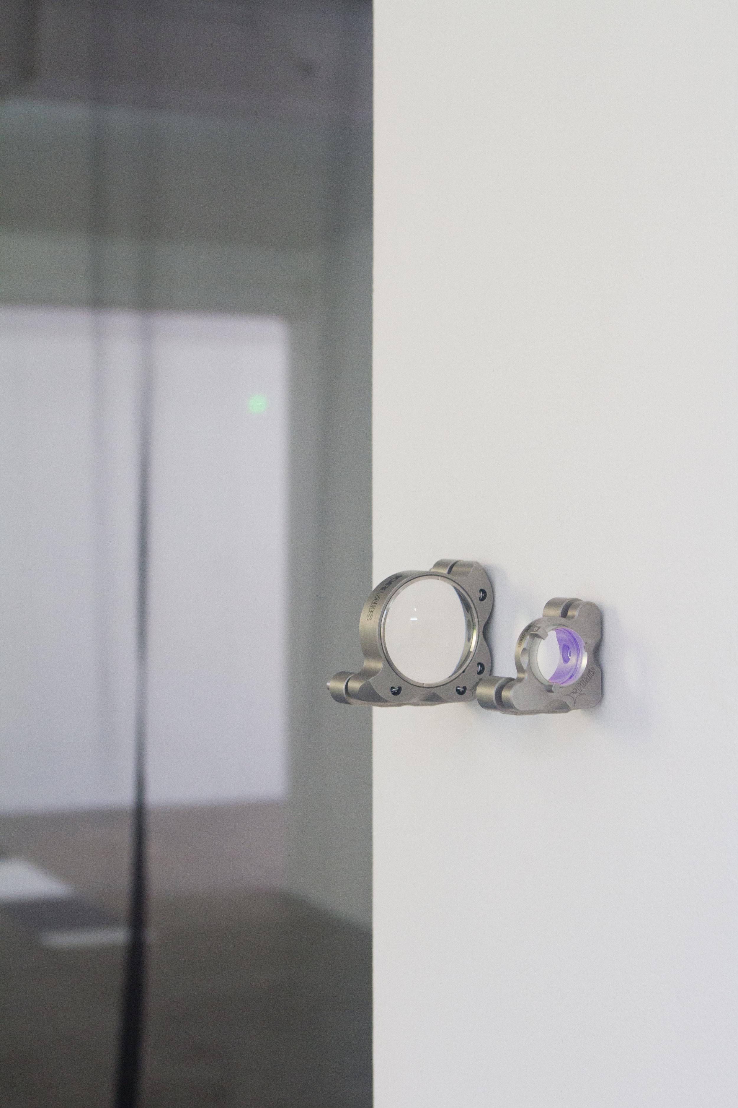 Jason Hendrik Hansma,  Vestibules I , 2018, Quantum optomechanical components, 7 x 5 cm, 5 x 3.5 cm
