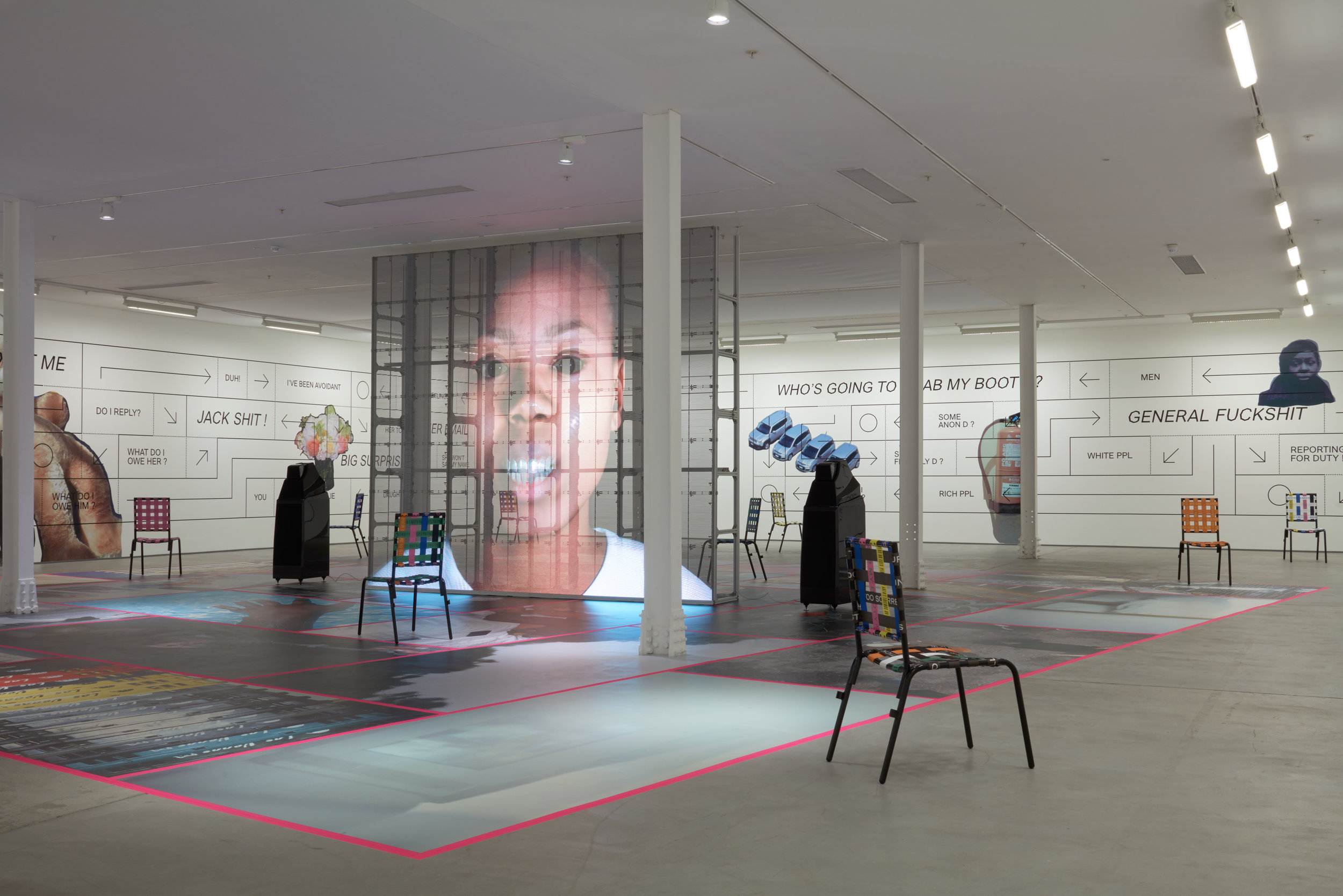 Installation view, Martine Syms,  Grand Calme
