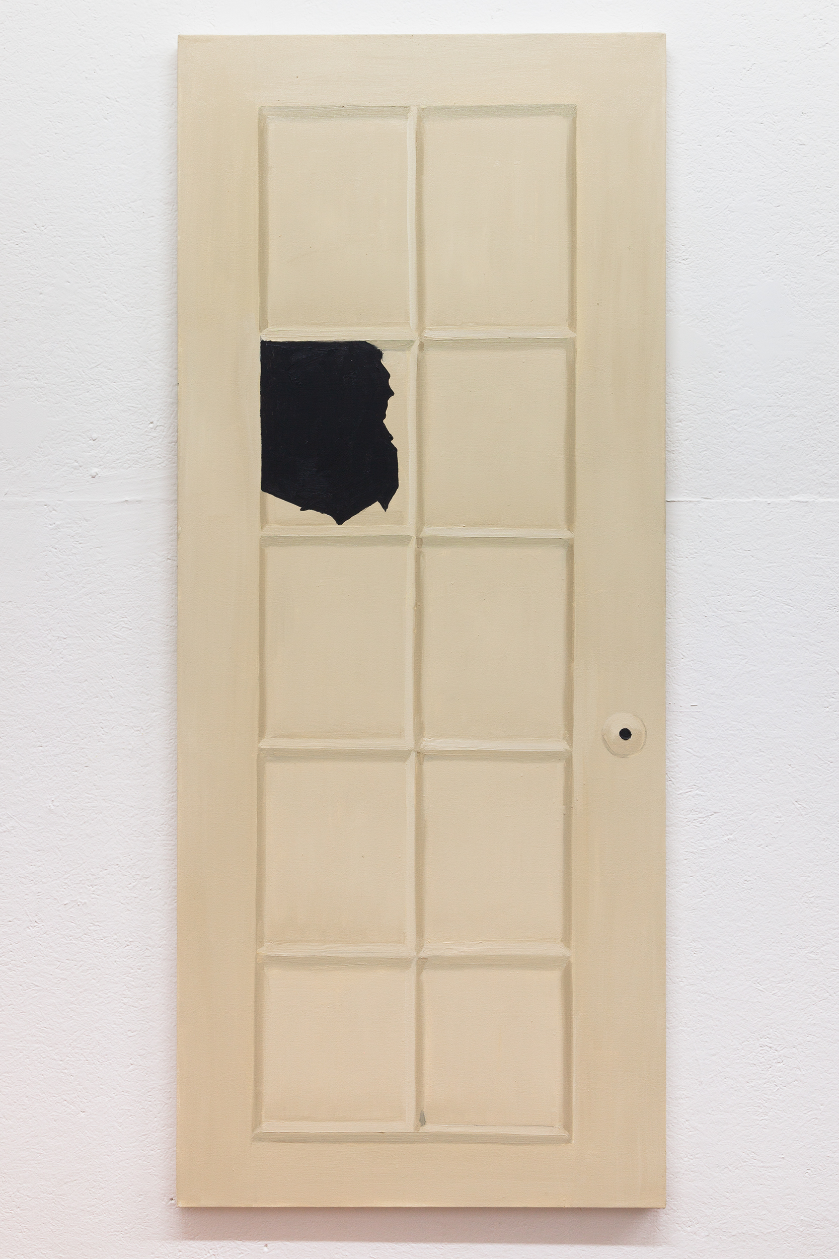Richard Bosman,  Louise Bourgeois Door , 2016, Oil on canvas, 72 x 30 inches