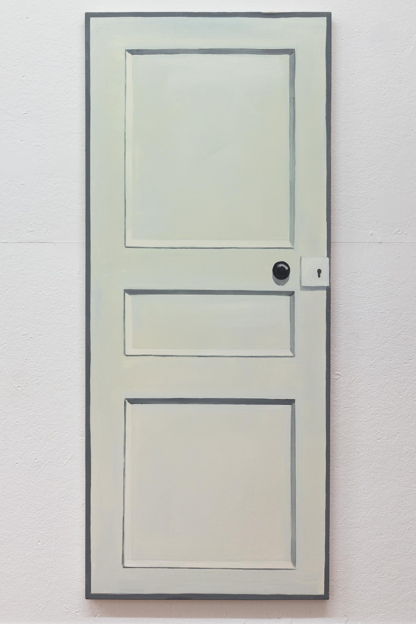 Richard Bosman,  Piet Mondrian Door , 2016, Oil on canvas, 72 x 30 inches