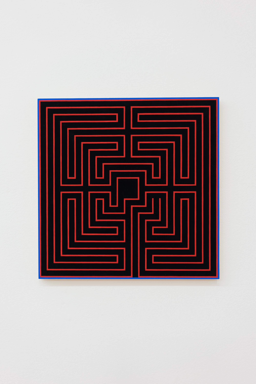Sarah Hotchkiss,  First Maze , 2018 Gouache on panel 16 x 16 in.