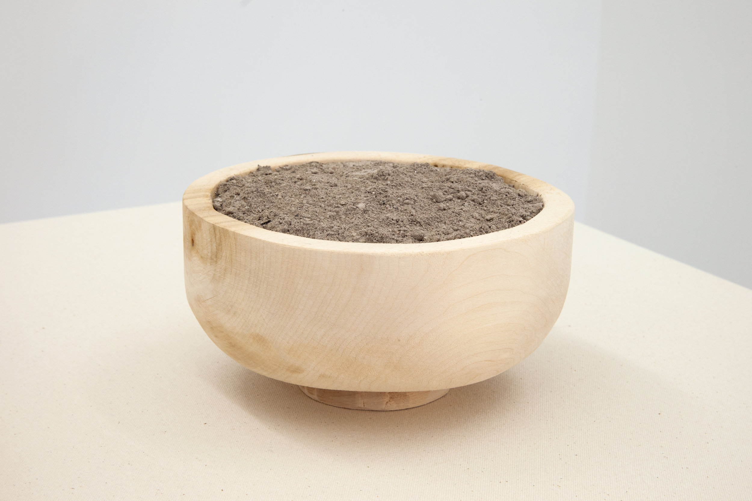 Elizabeth Atterbury,  Urn , 2018, Basswood and Ash, 7 x 7 x 3.62 in