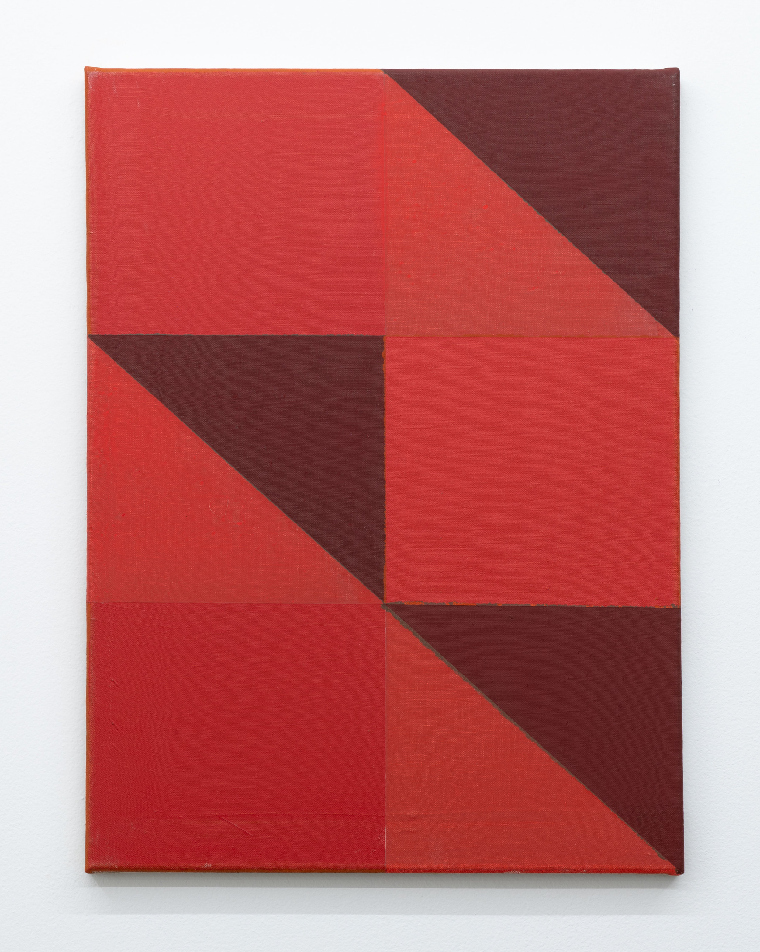 """Joshua Abelow,  Untitled (Abstraction """"FNZZ(2)""""),  2016, Oil on linen, 24 x 18 inches"""