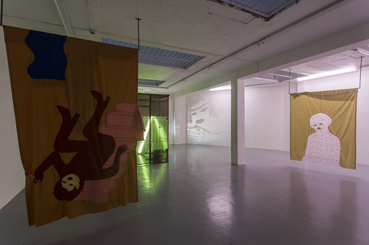 All images: Installation view,  Criminal Longing 3,  2018, Courtesy of the artist and ALMANAC, London/Turin, all photos by Oskar Proctor.