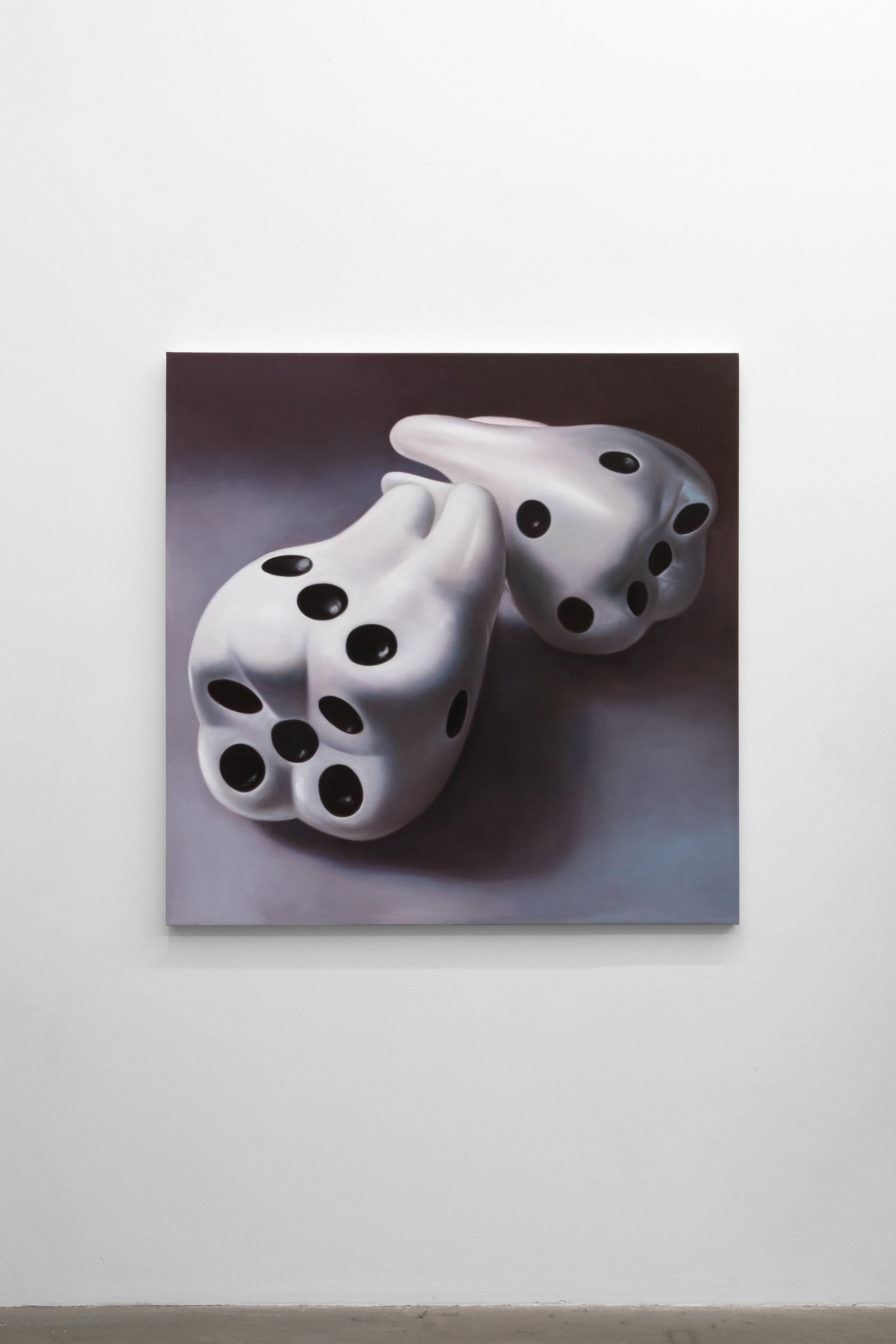 Jesse Harris,  Halftones , 2018, Oil on canvas, 48 x 48 in (121.9 x 121.9 cm)