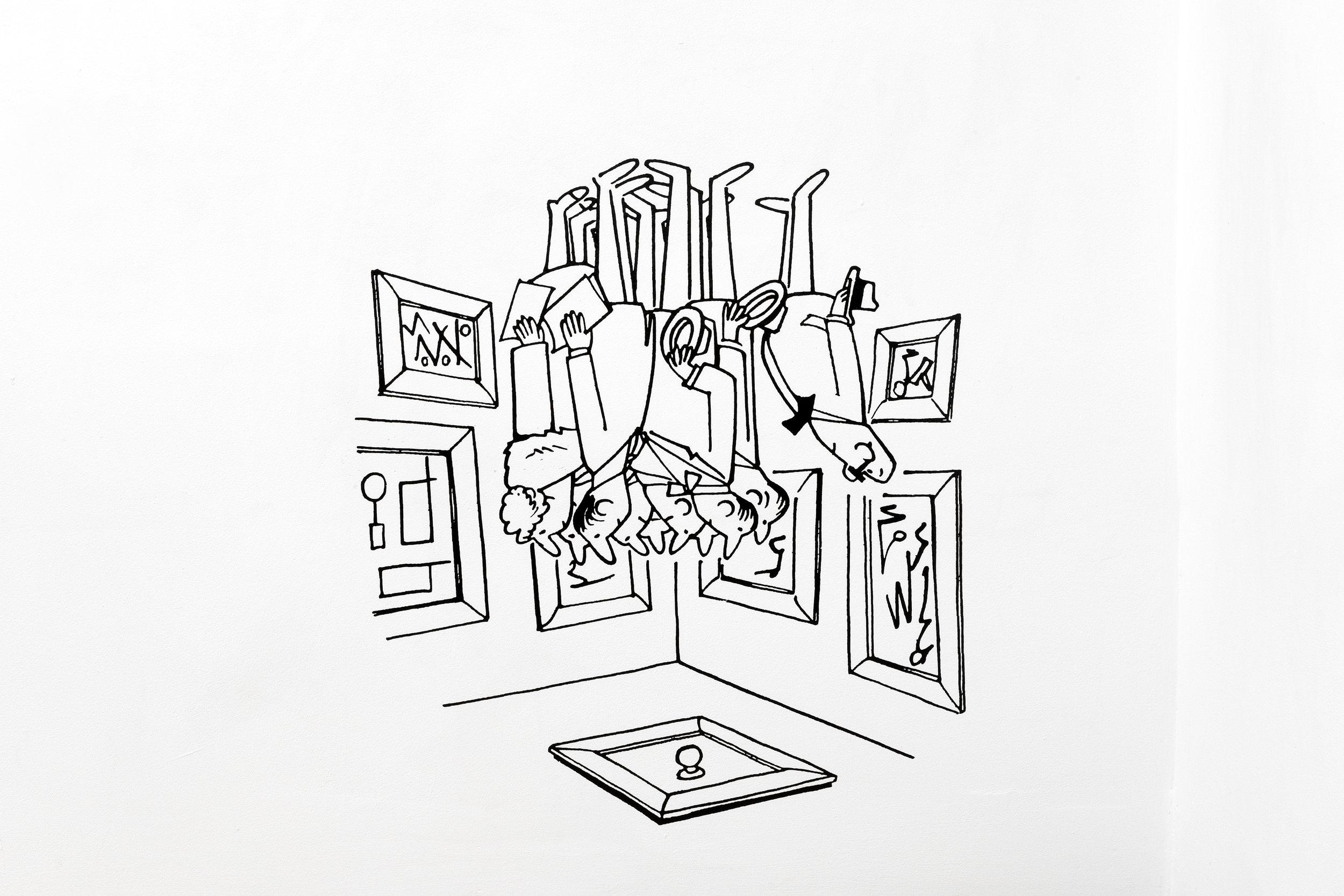 Jesse Harris,  Detournement , 2019 Unique, Cut Vinyl Deca, 26 x 24 in (66 x 61 cm)