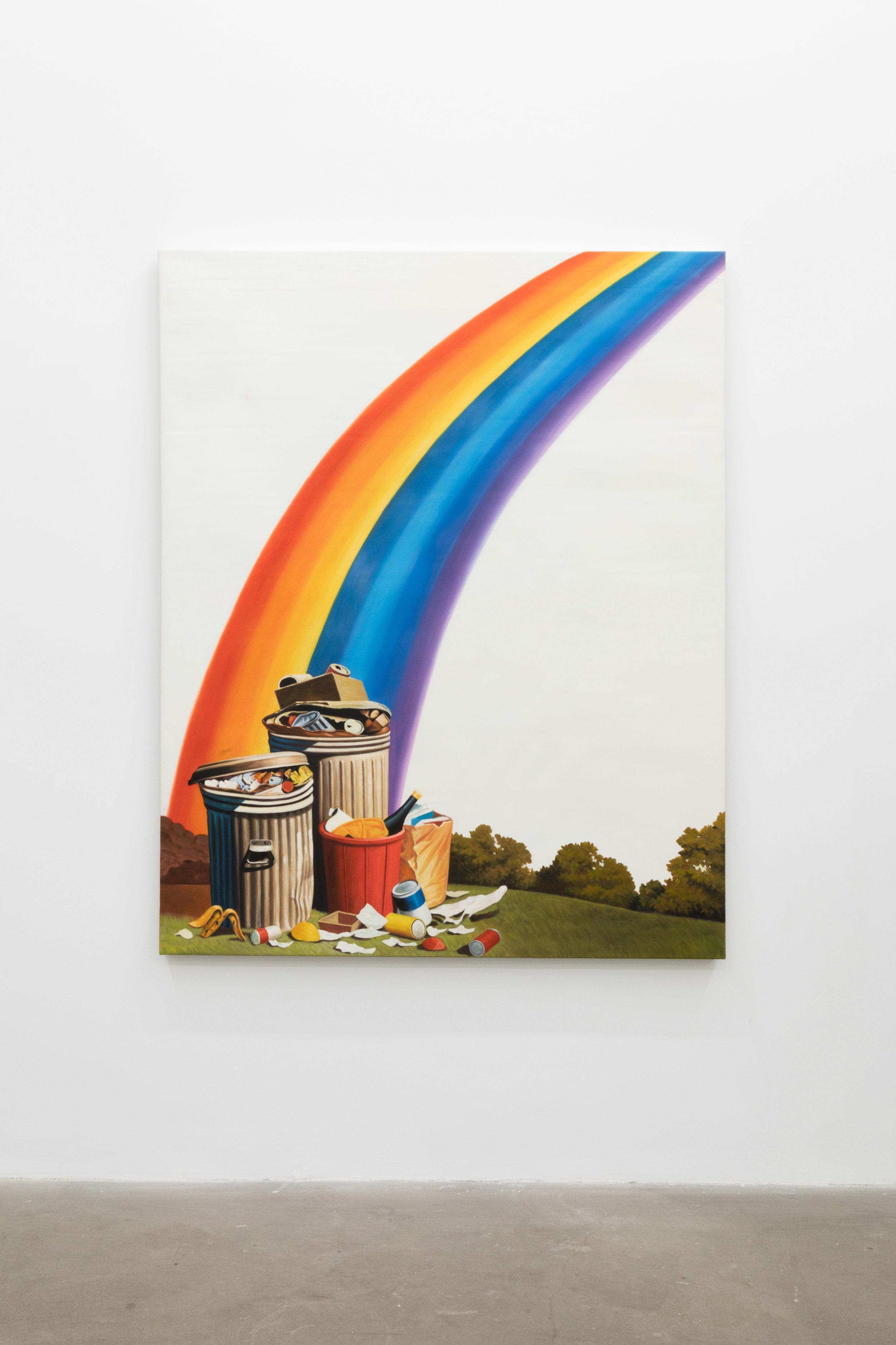 Jesse Harris,  Rainbow Blight , 2018, Oil on Canvas, 48 x 36 in (121.9 x 91.4 cm)