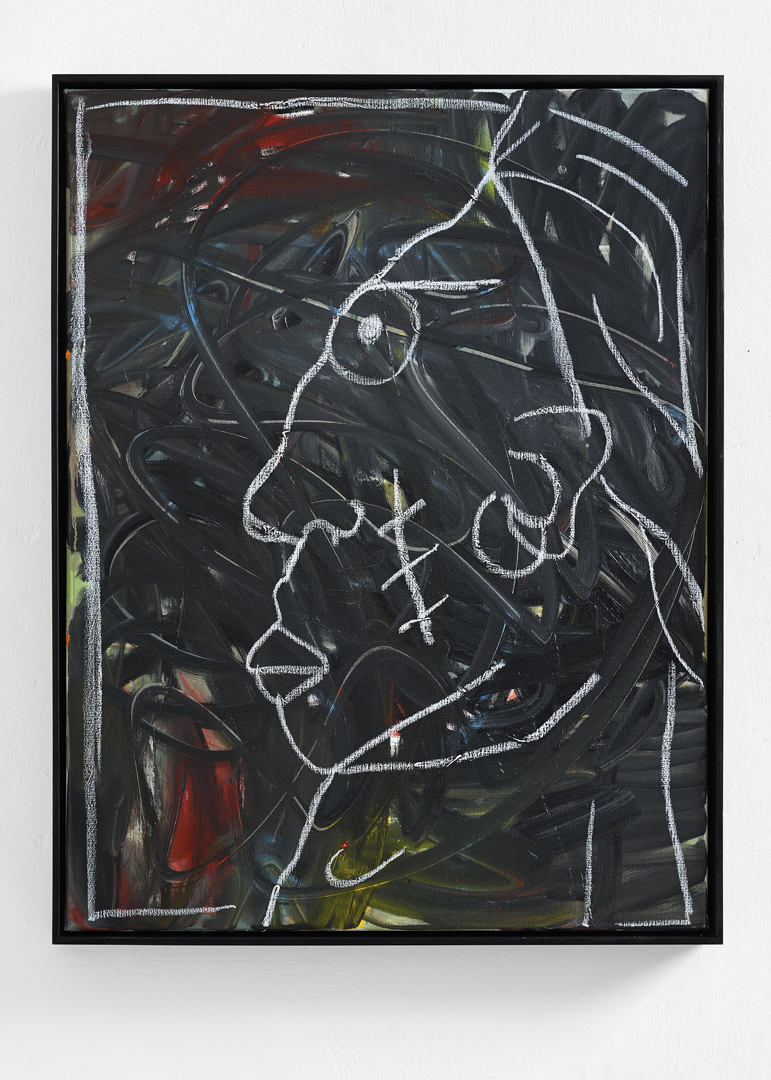 Martin Lukáč  Pirate King , 2019, Oil and oil-stick on canvas, 104 x 80 cm
