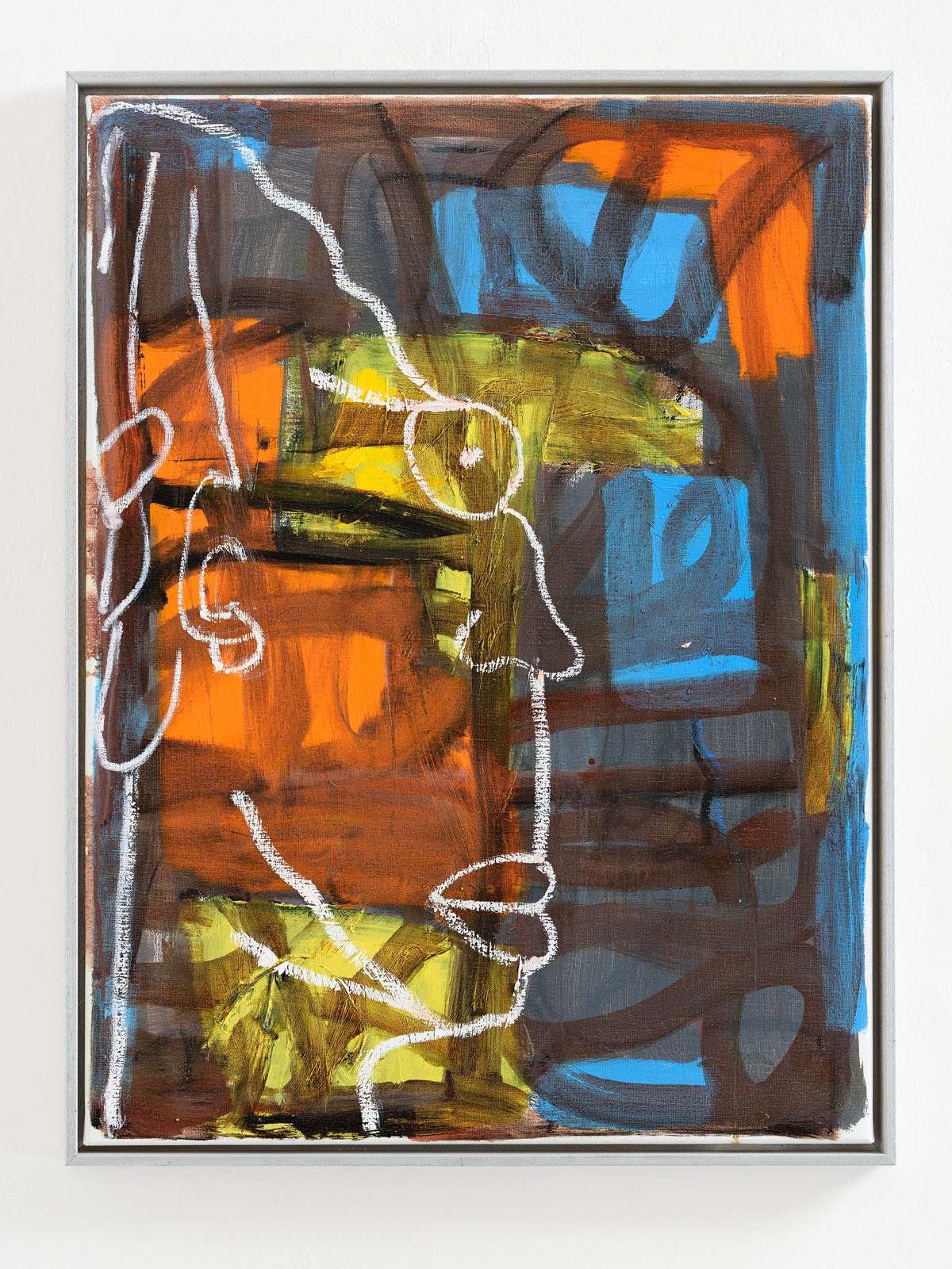 Martin Lukáč  Untitled , 2018, Oil and oil-stick on canvas, 80 x 60 cm