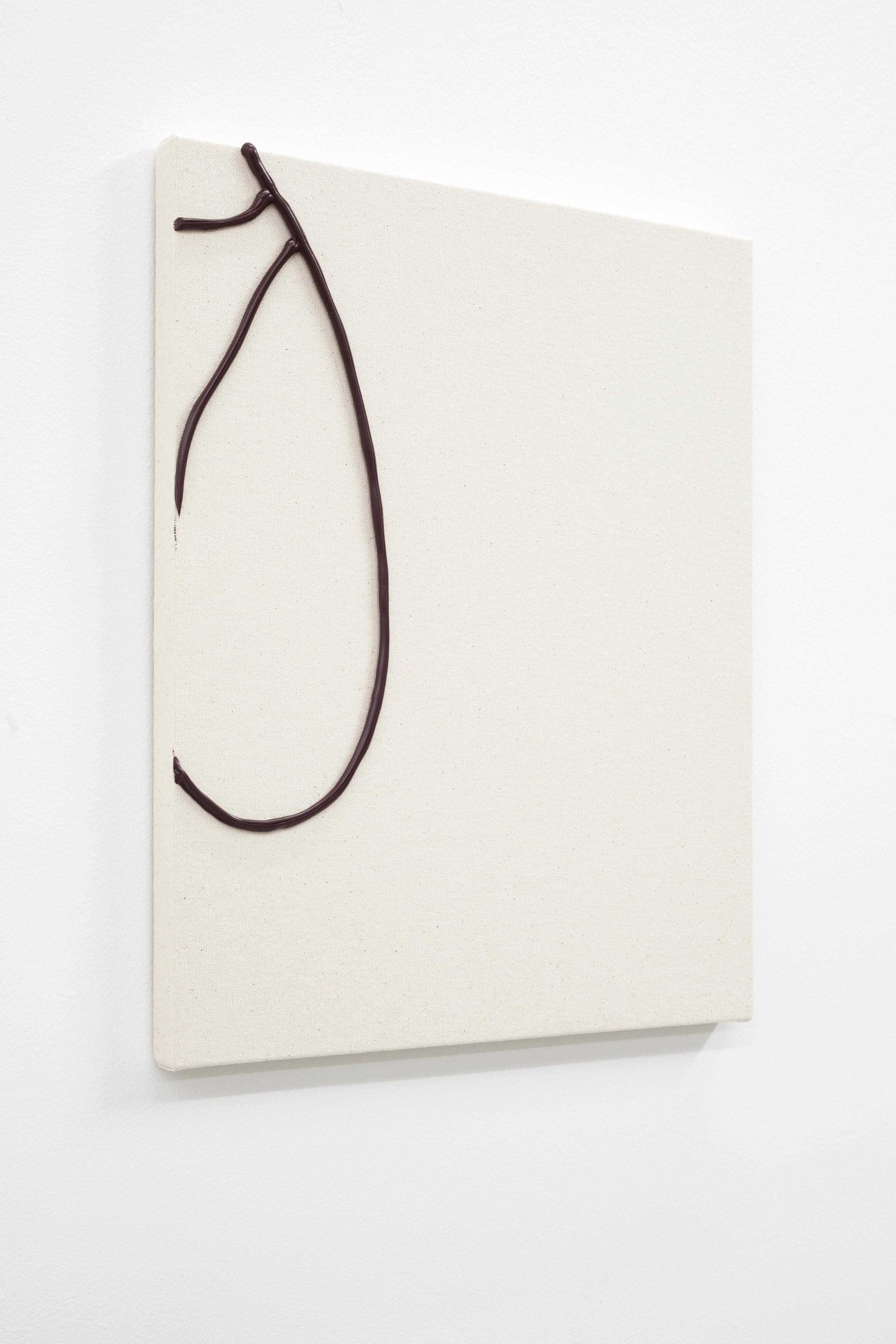 Omari Douglin,  Untitled (Butt Painting),  2019, Caulk on Raw Canvas, 16x13in
