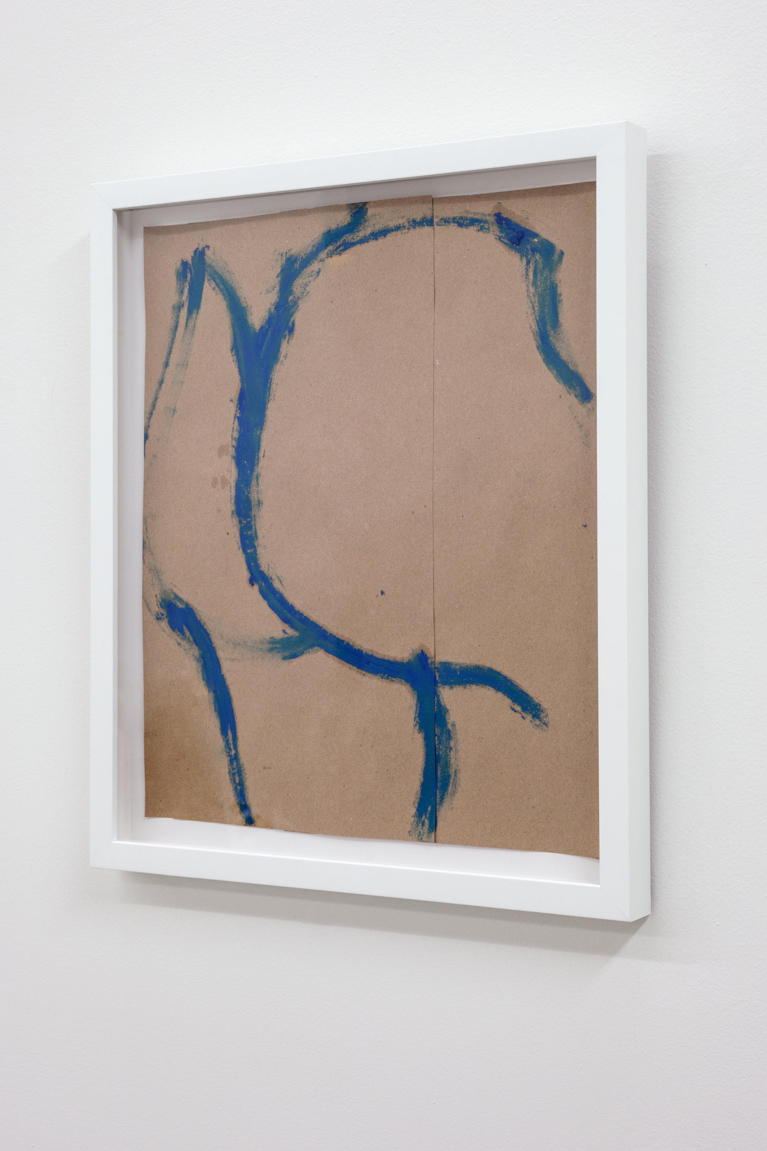 Omari Douglin,  Untitled (Butt Drawing) , 2019, Oil Pastel on Paper, 15.75x13in
