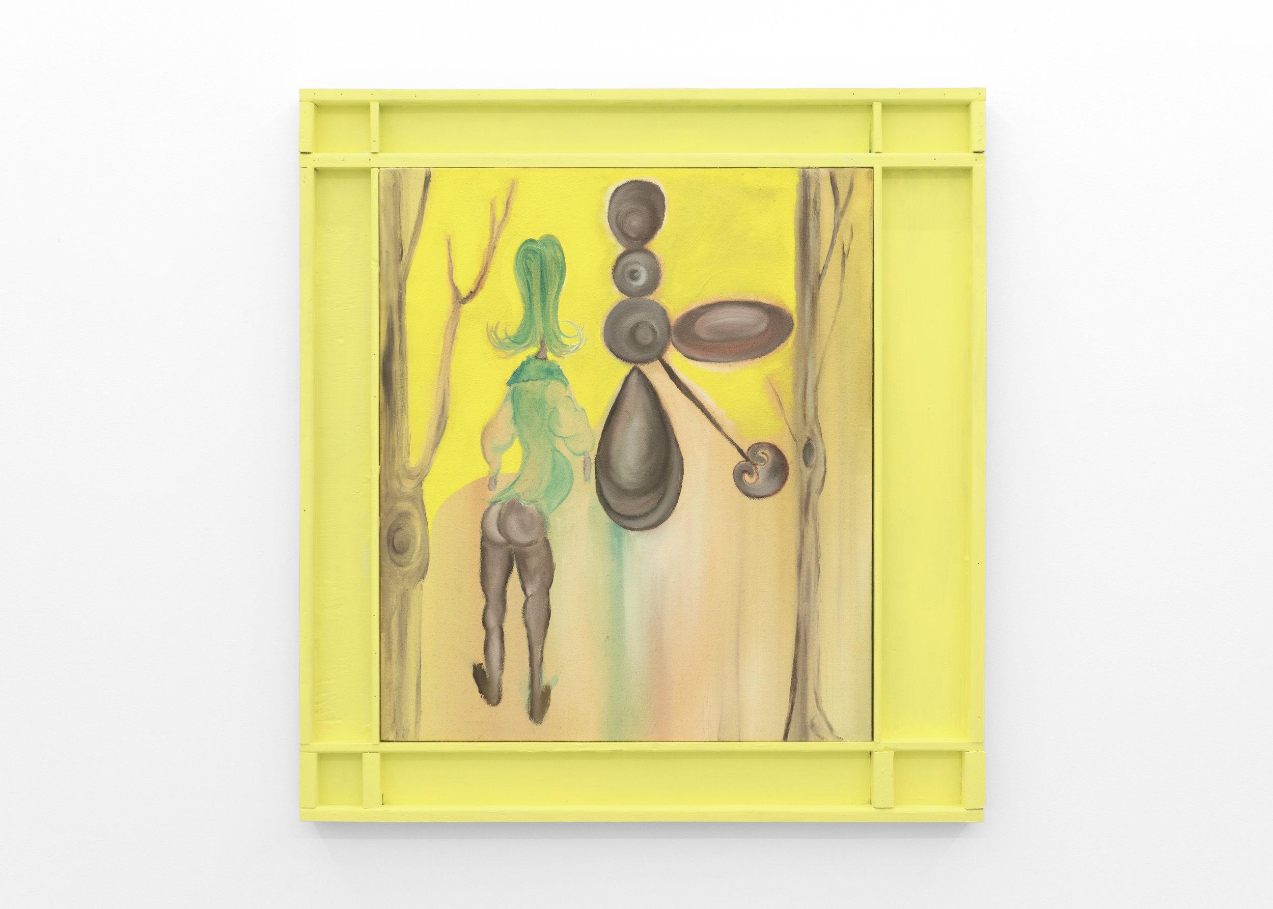 Kira Scerbin,  They're All Trees , 2019, Oil on linen, artist frame
