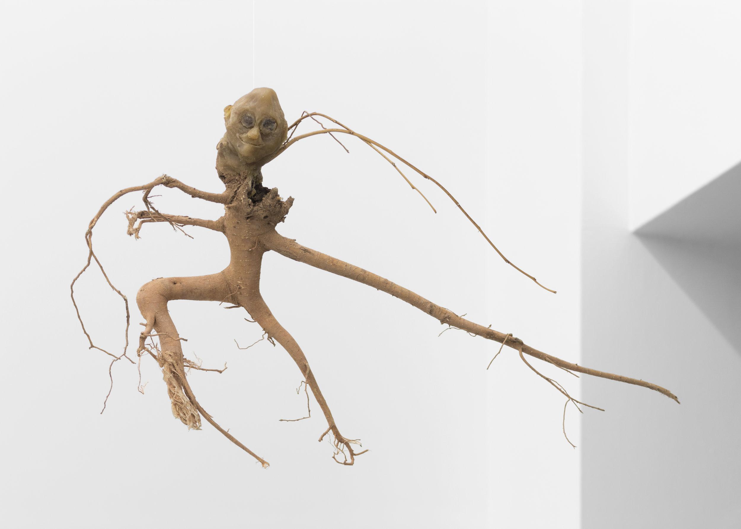 Kira Scerbin , A Quick Fart (Dancer),  2019. Beeswax and myrrh on root