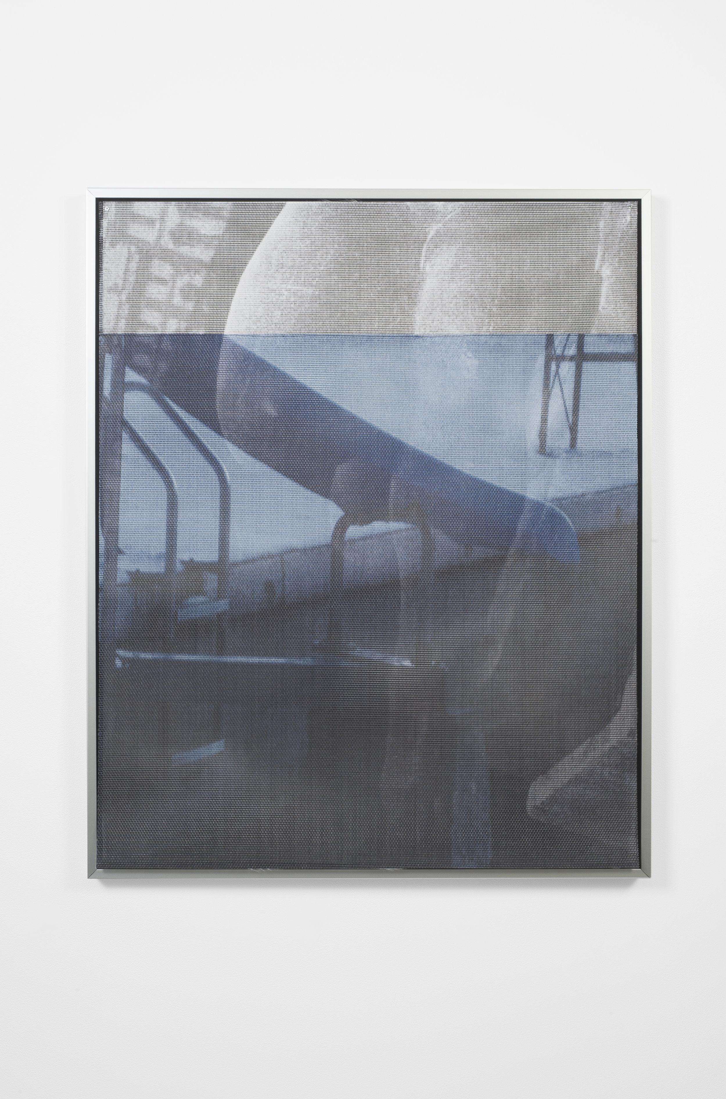 Ellie Hunter,  Syndrome of Subjective Doubles i,  2019, UV inkjet print on vinyl mesh, 24.4 x 31.5 inches