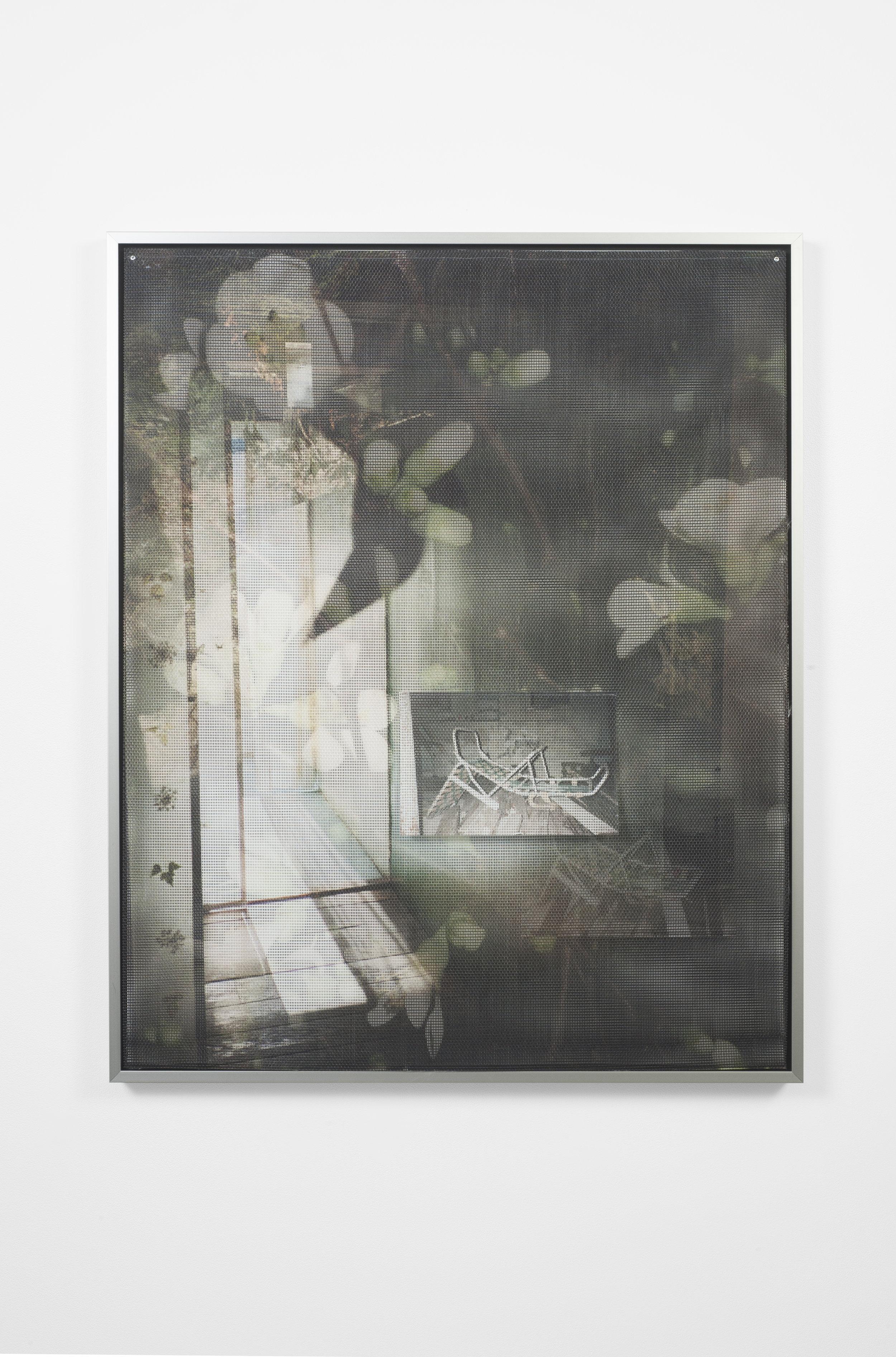 Ellie Hunter,  Untitled,  2019, UV inkjet print on vinyl mesh, 24.4 x 31.5 inches