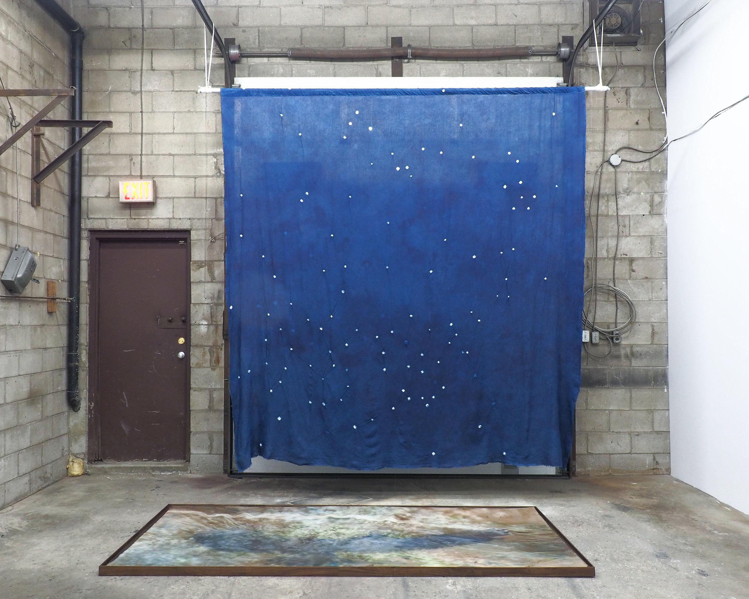 Sara Kay Maston,  Sky , 2018-19 indigo dye on linen