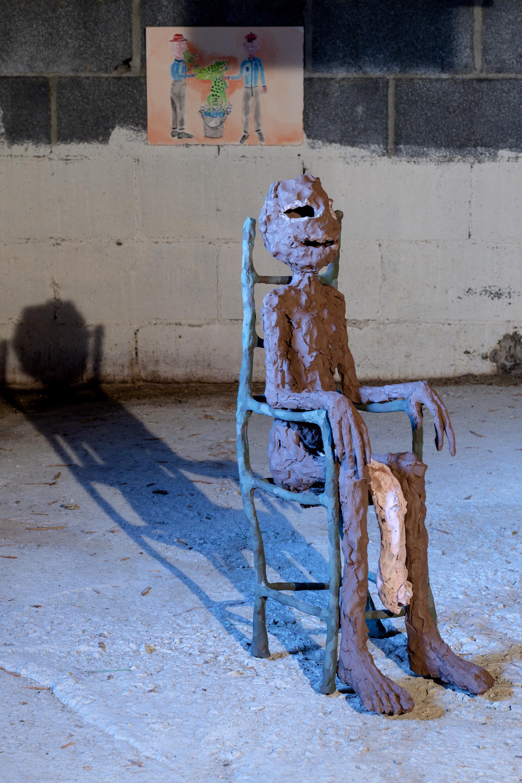 Susan Classen Sullivan,  Circus, figure 1,  Ceramic, 2019, 24 x 12 x 18 inches