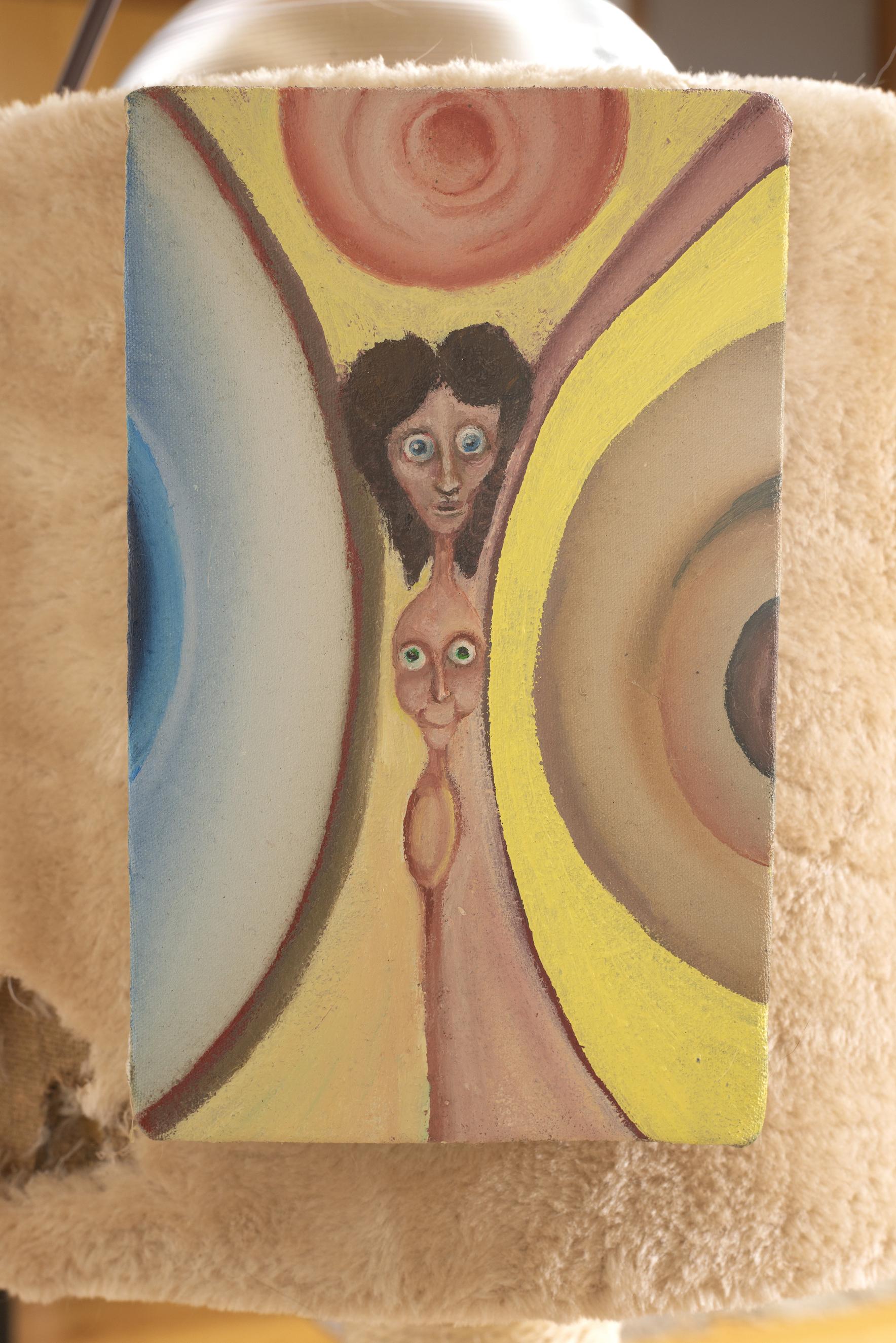 Kira Scerbin,  Inside Radiator , 2019, oil on canvas, 6 x 4 x 1 inches