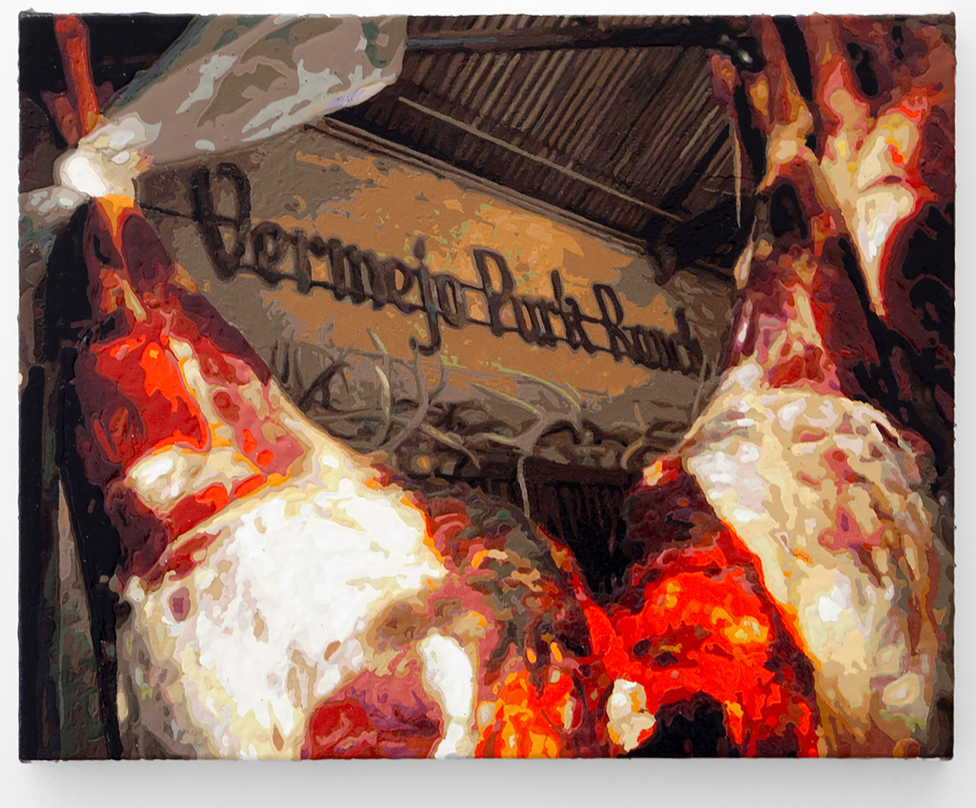 Dorian FitzGerald,  Vermejo Park Ranch  , 2016 acrylic on canvas mounted to board, 36 x 48 inches