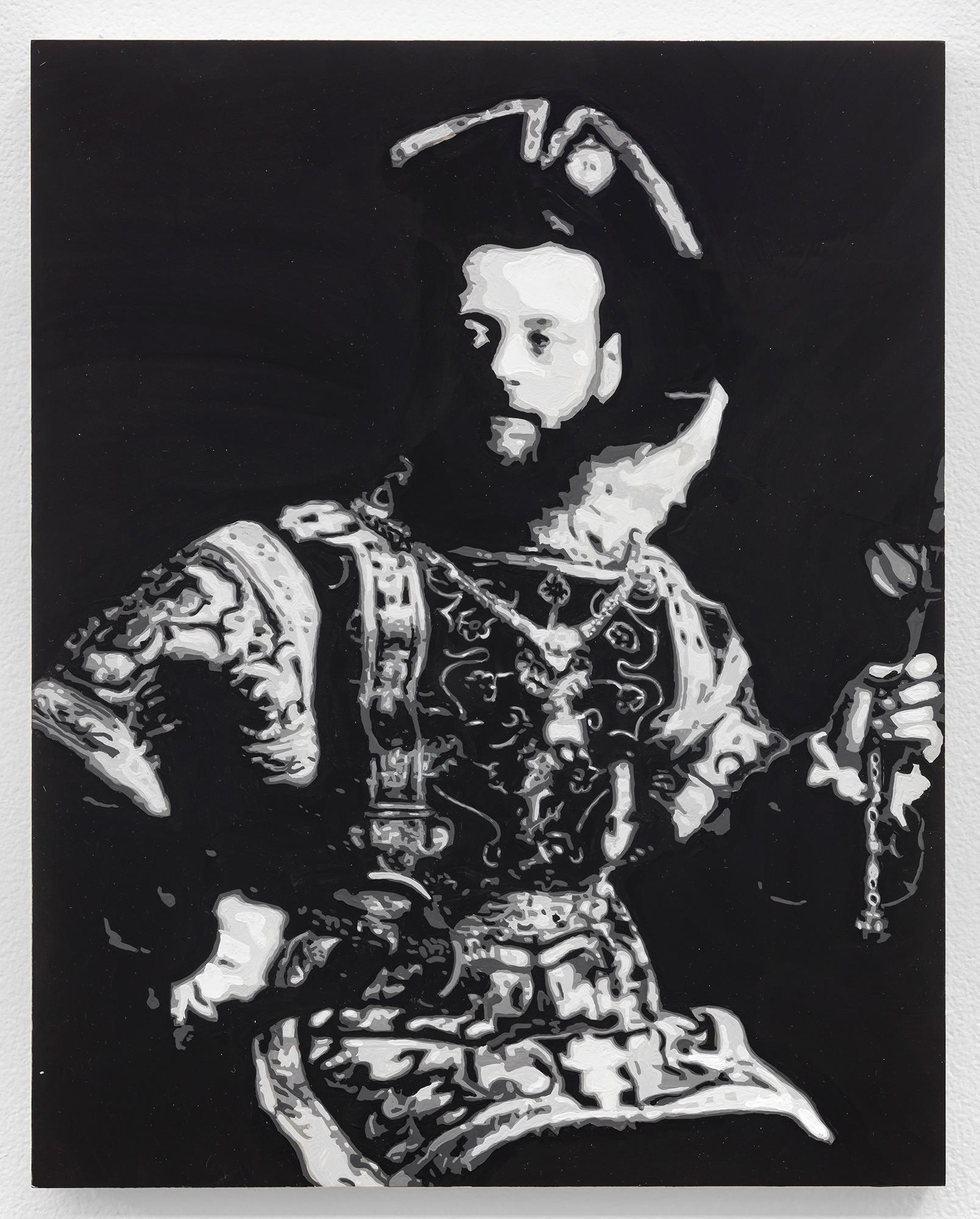 Dorian FitzGerald,  Nathan Rothschild, 1st Baron Rothschild , 2019, holbein acryla gouache on board, 8 x 10 inches
