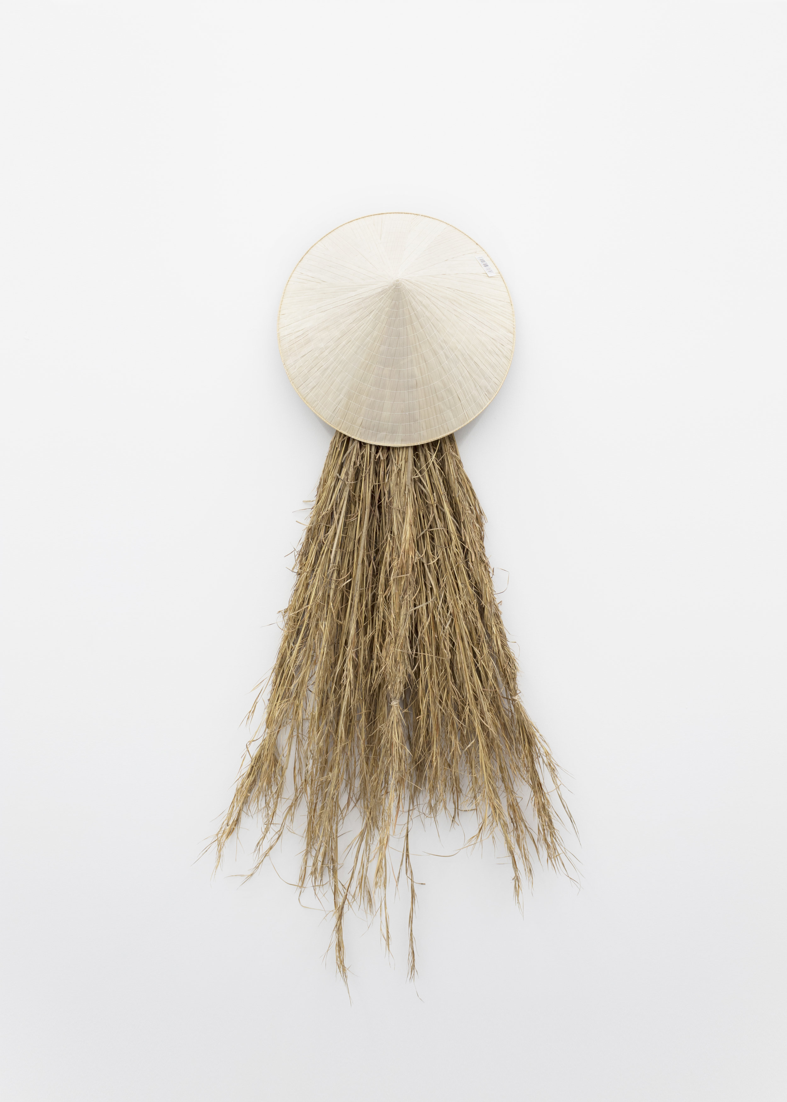 Millian Giang Lien Pham,  Preforge: 9 Stages (Five) , 2019. Grass, conical hat