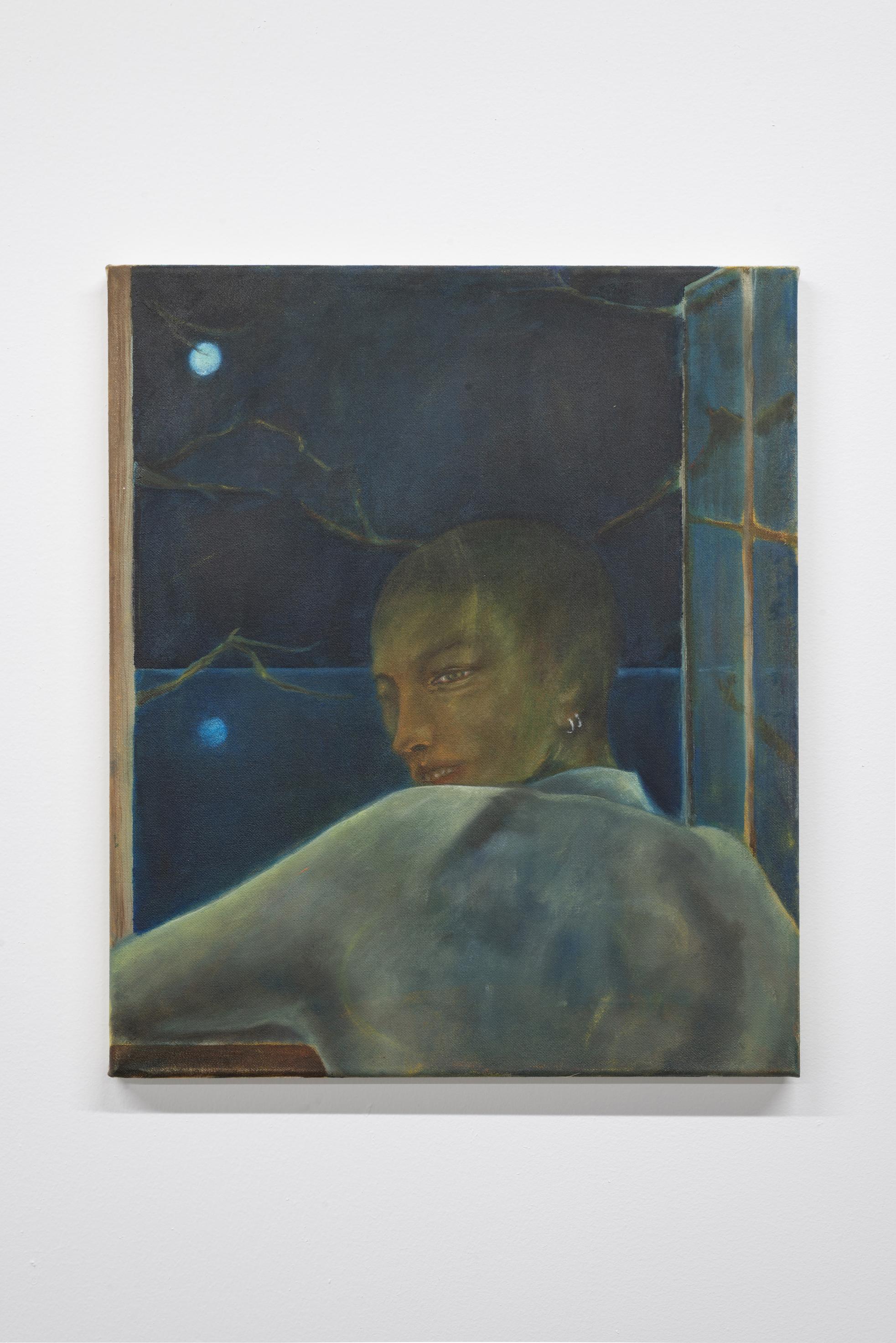 Ernst Yohji Jäger,  Untitled,  2019, Oil on canvas, 20 x 16 inches